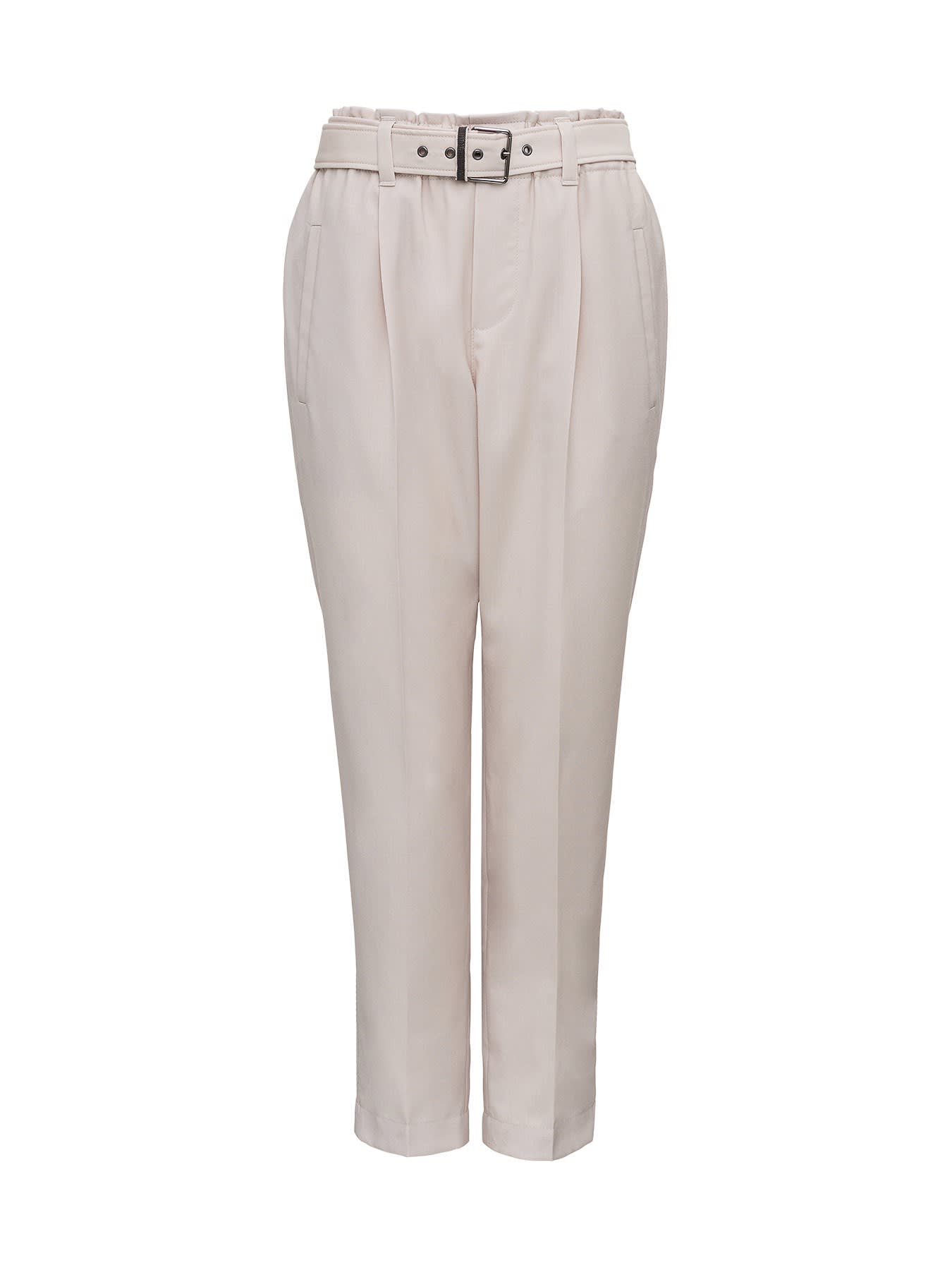 Brunello Cucinelli Wool Trousers With Belt