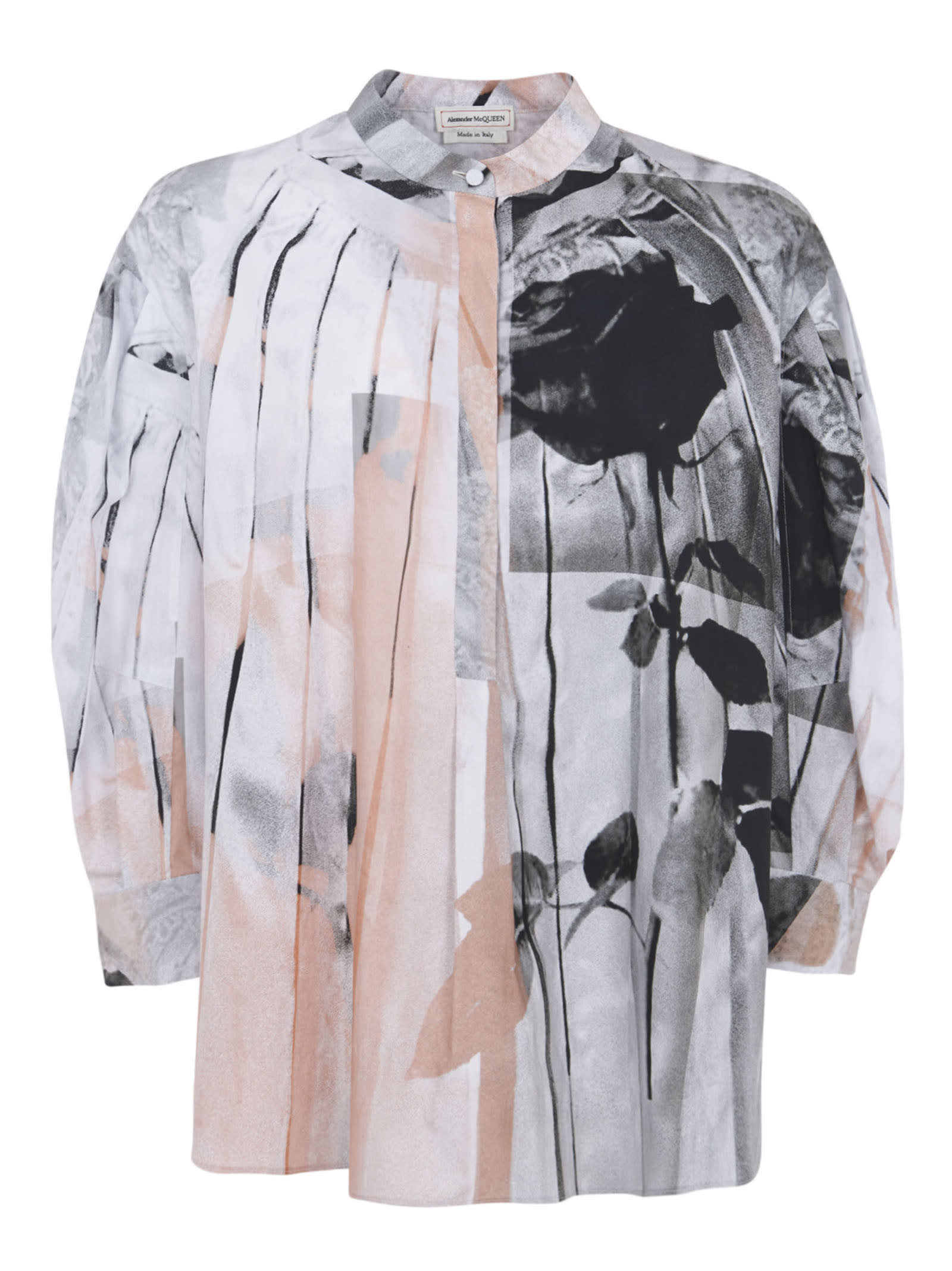 Alexander Mcqueen Cottons PRINTED ALL-OVER BLOUSE