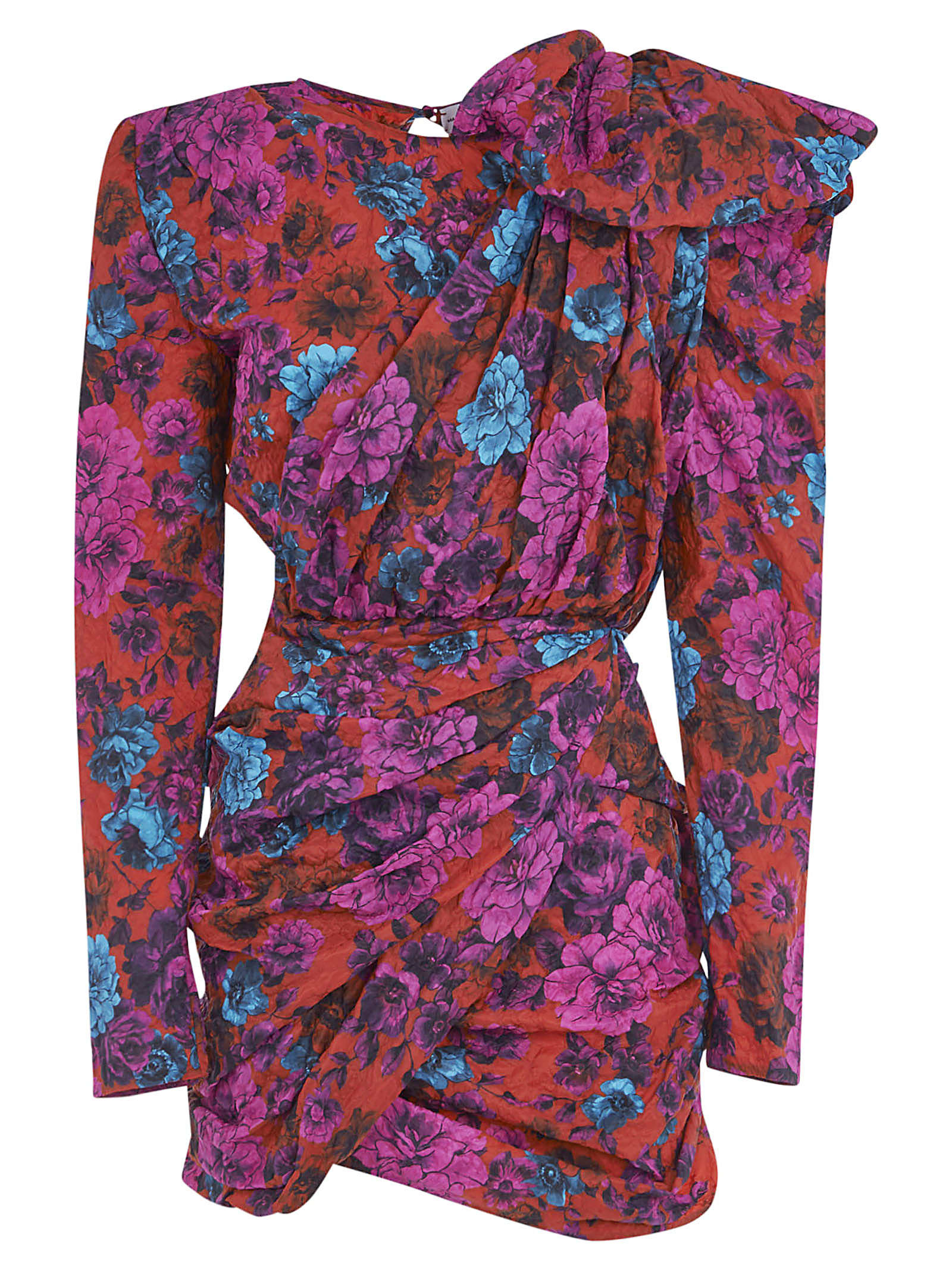 Buy Floral Print Short Draped Dress online, shop Magda Butrym with free shipping