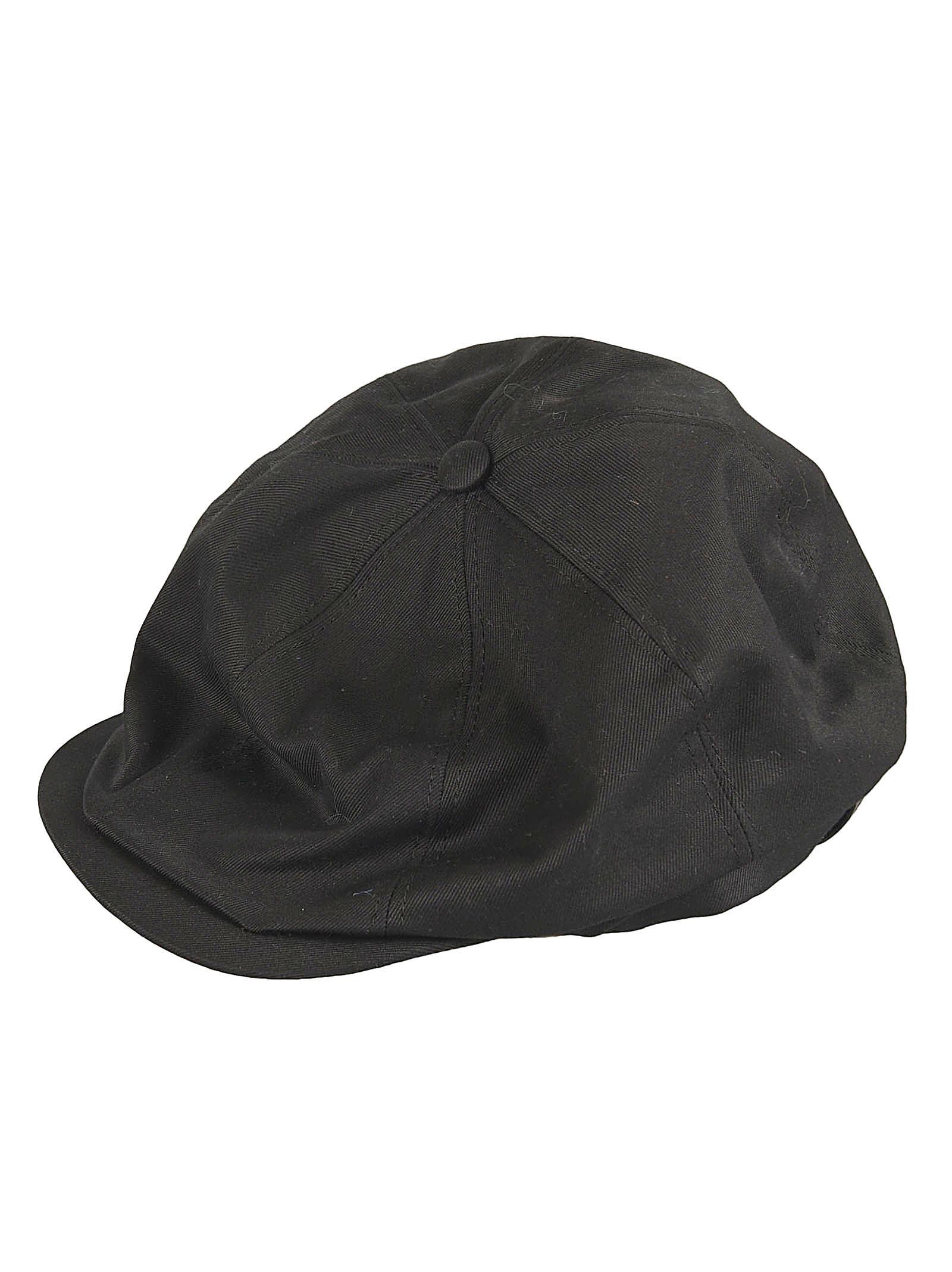 Saint Laurent Branded Baseball Cap In Black