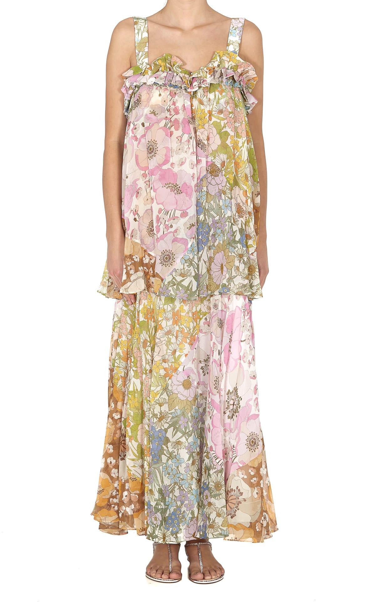 Buy Zimmermann Super Eight Maxi Dress online, shop Zimmermann with free shipping