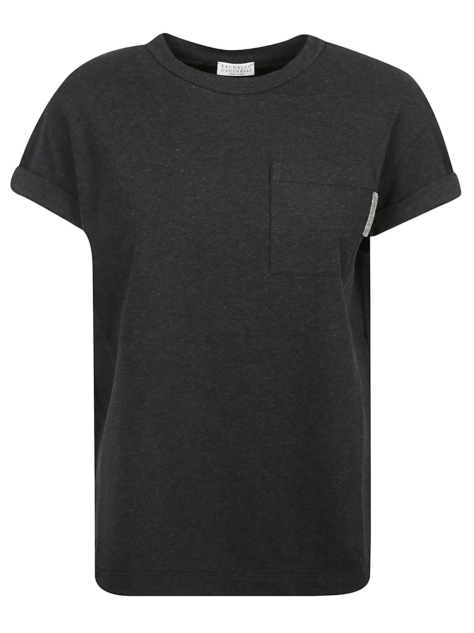 Brunello Cucinelli POCKET CHEST DETAIL T-SHIRT