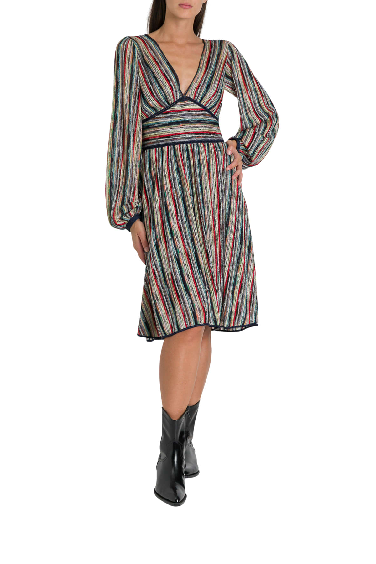 Buy Missoni Striped Knitted Dress online, shop Missoni with free shipping