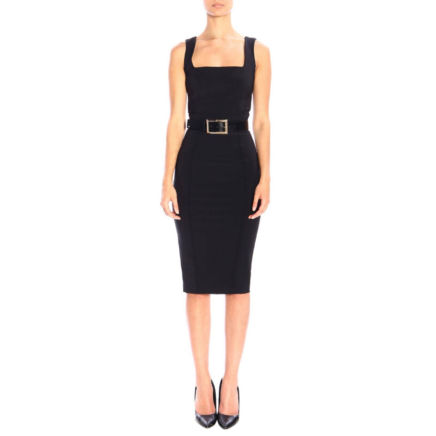 Elisabetta Franchi Dress Elisabetta Franchi Pencil Dress With Belt