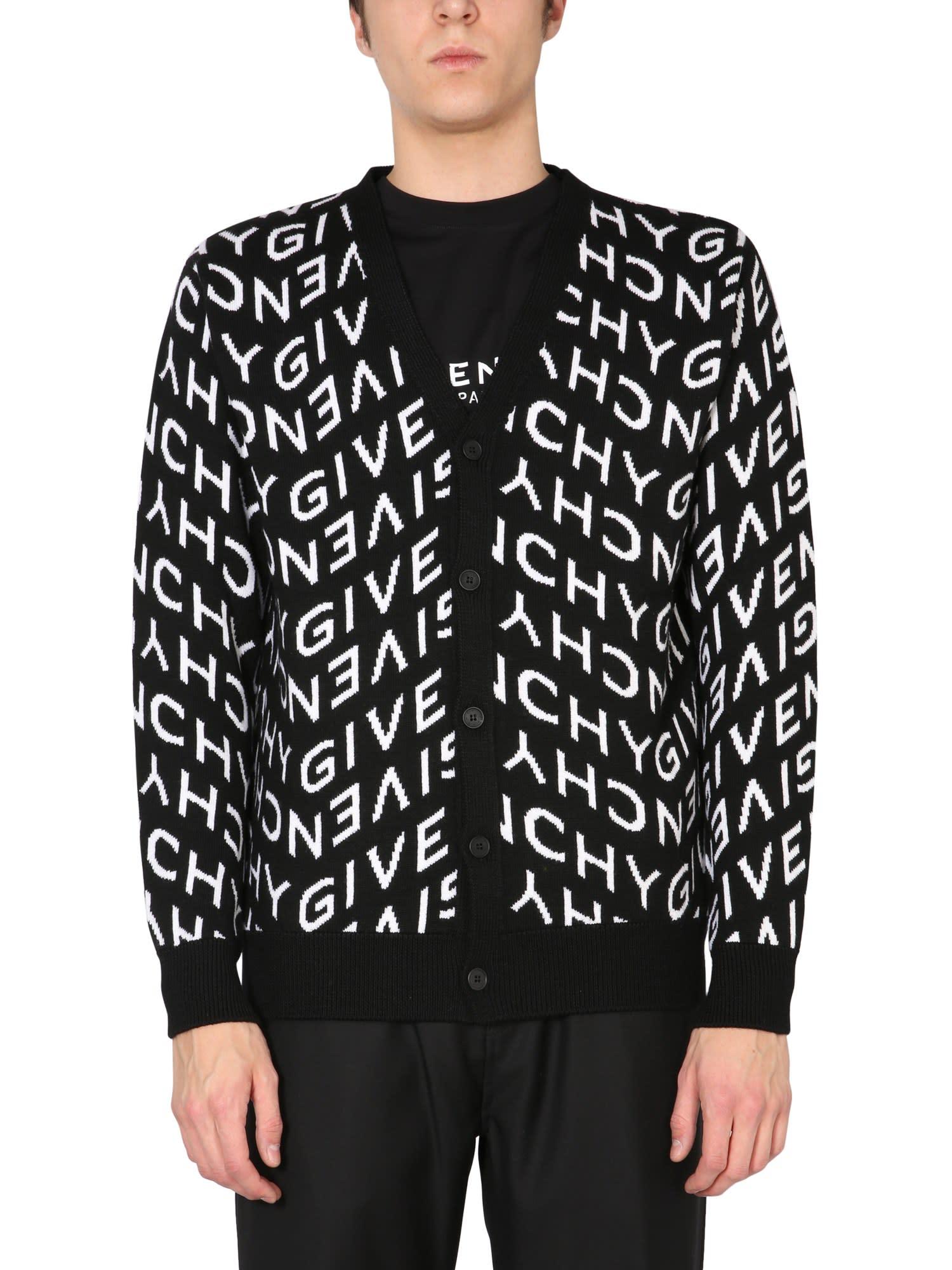 Givenchy Knits WOOL JACQUARD CARDIGAN