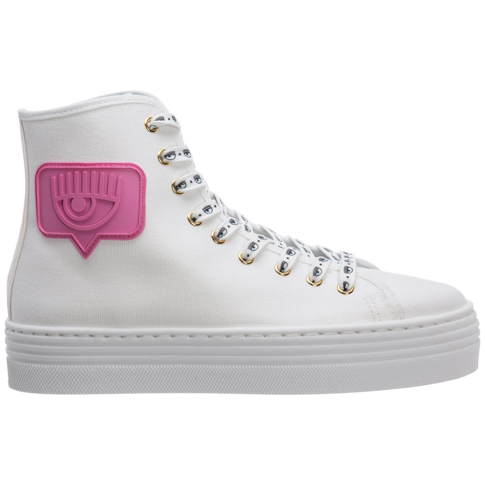 Chiara Ferragni EYELIKE HIGH-TOP SNEAKERS