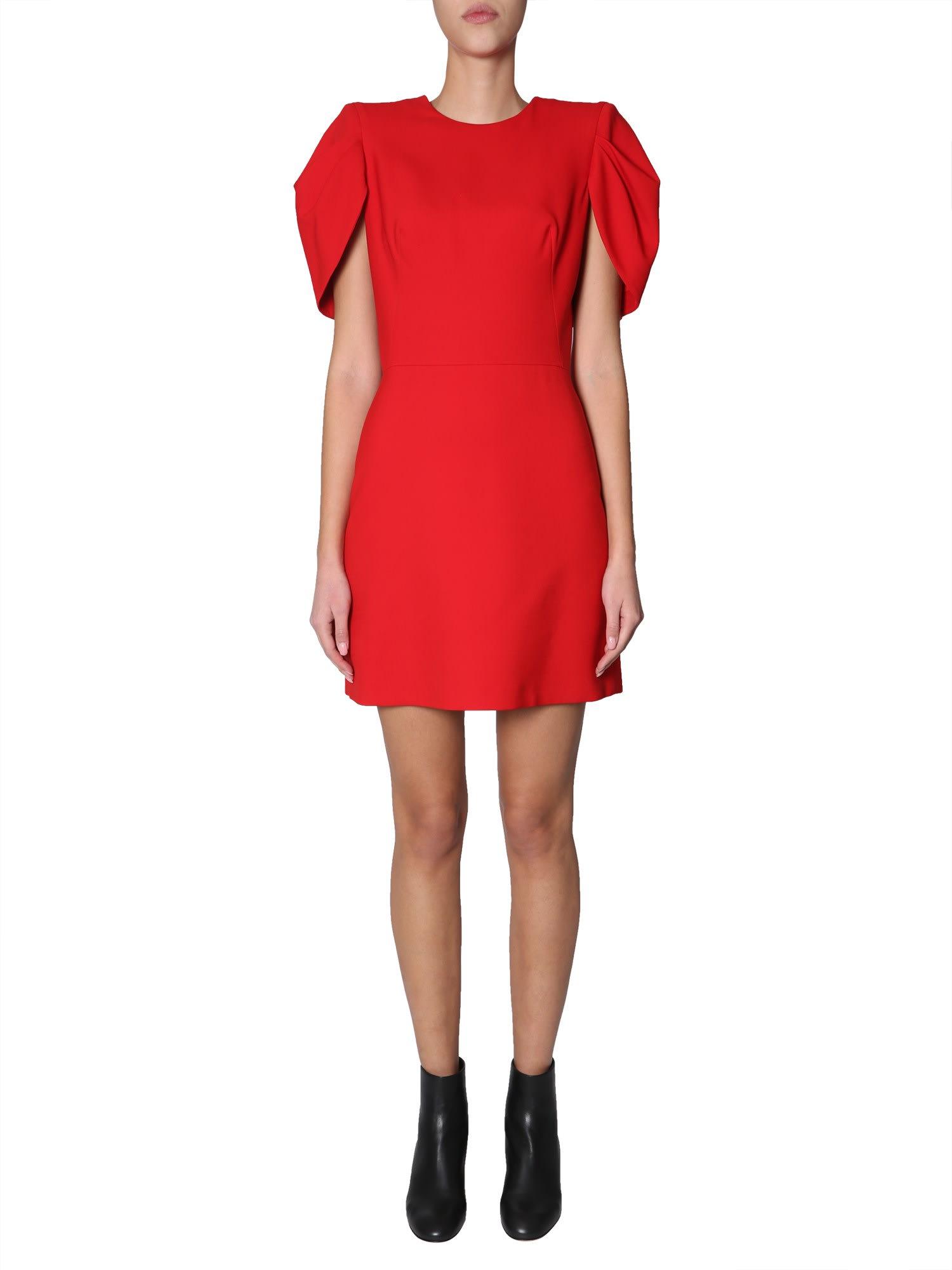 Alexander McQueen Mixed Silk Little Dress