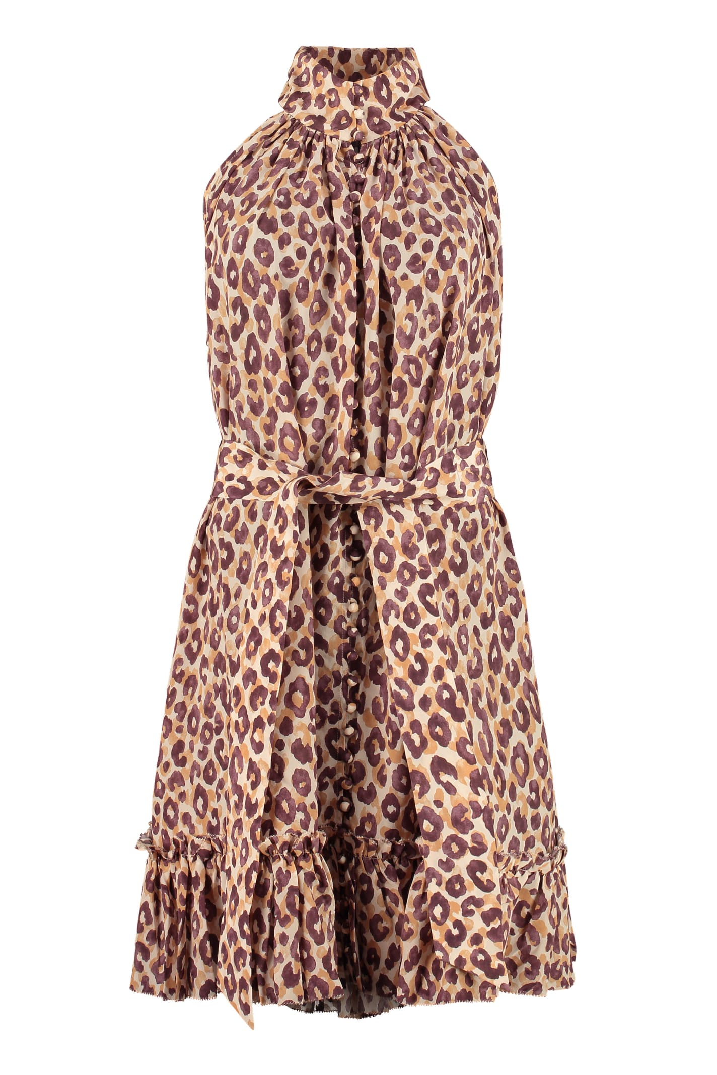 Buy Zimmermann Leopard-print Silk Dress online, shop Zimmermann with free shipping