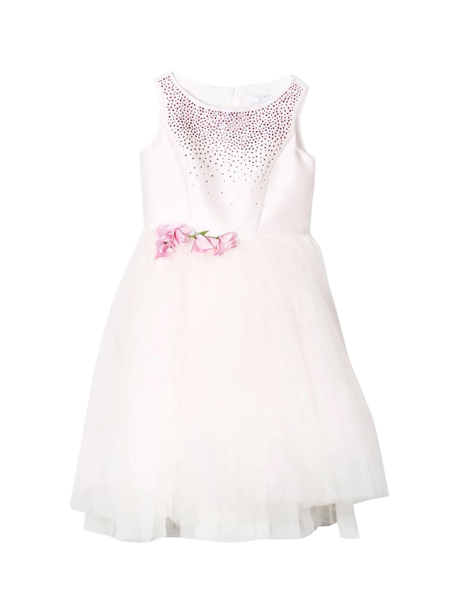 Buy Monnalisa Pink Dress online, shop Monnalisa with free shipping