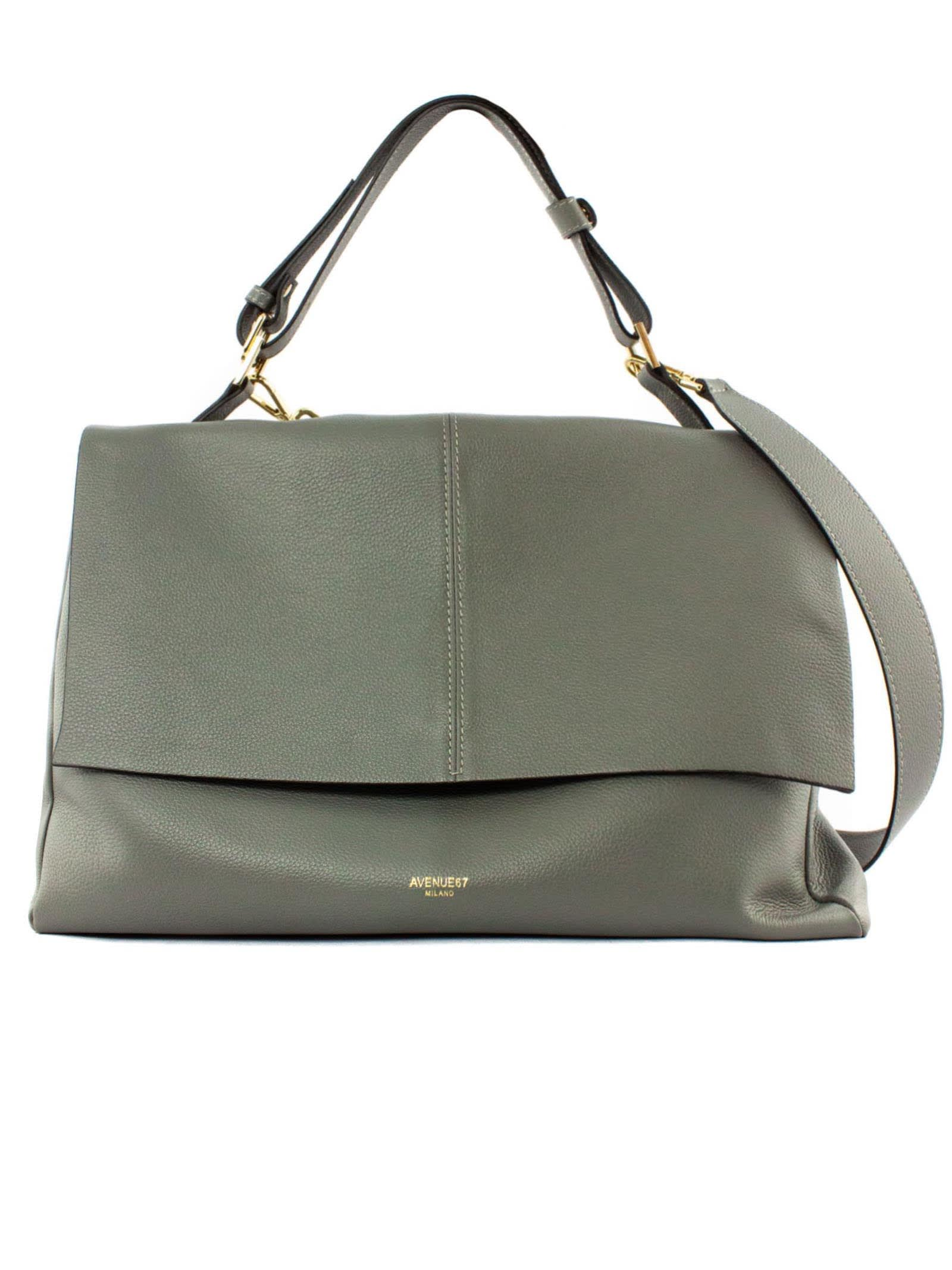 Elettra Giant Bag In Soft Grey Leather
