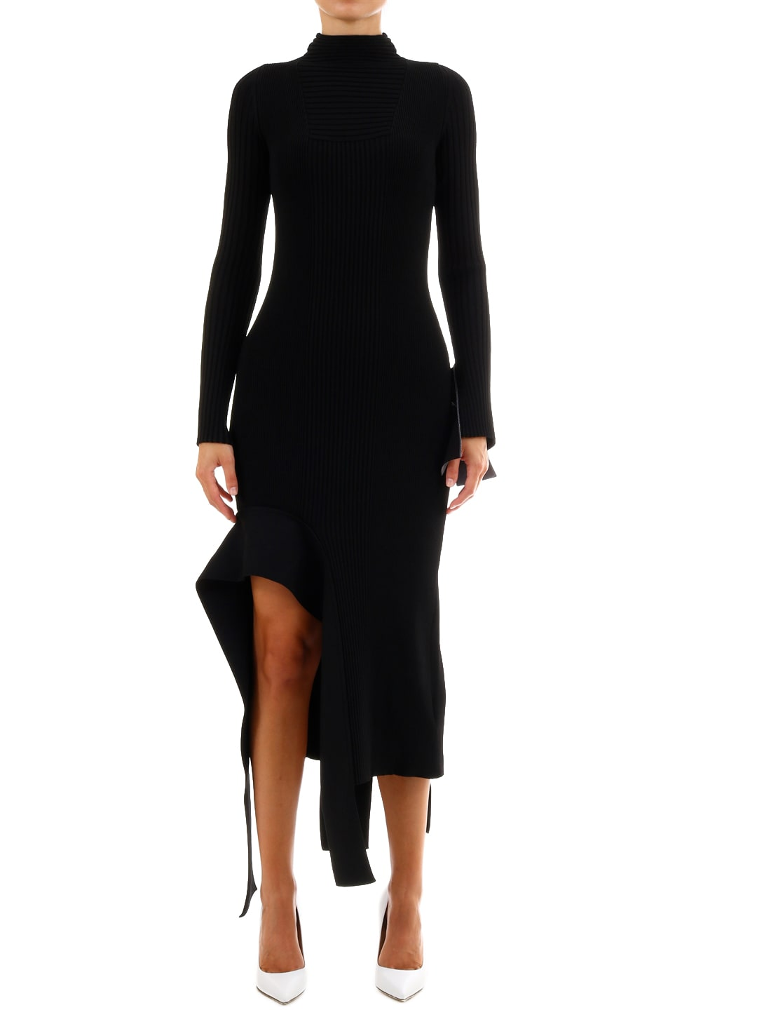 Buy Off-White Black Knit Dress online, shop Off-White with free shipping
