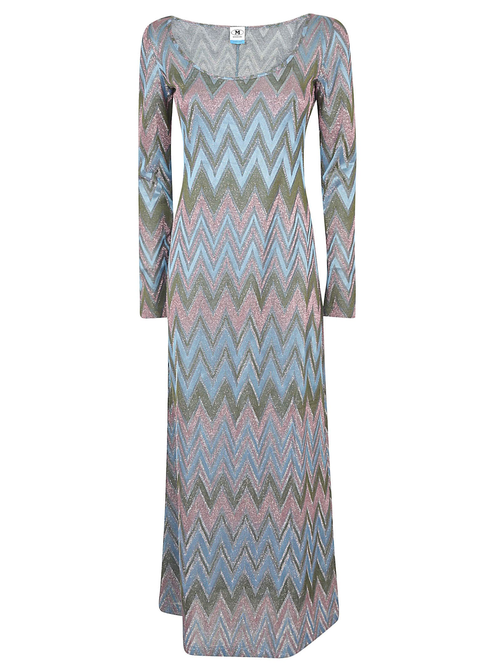 Buy M Missoni Zigzag Long-sleeved Dress online, shop M Missoni with free shipping
