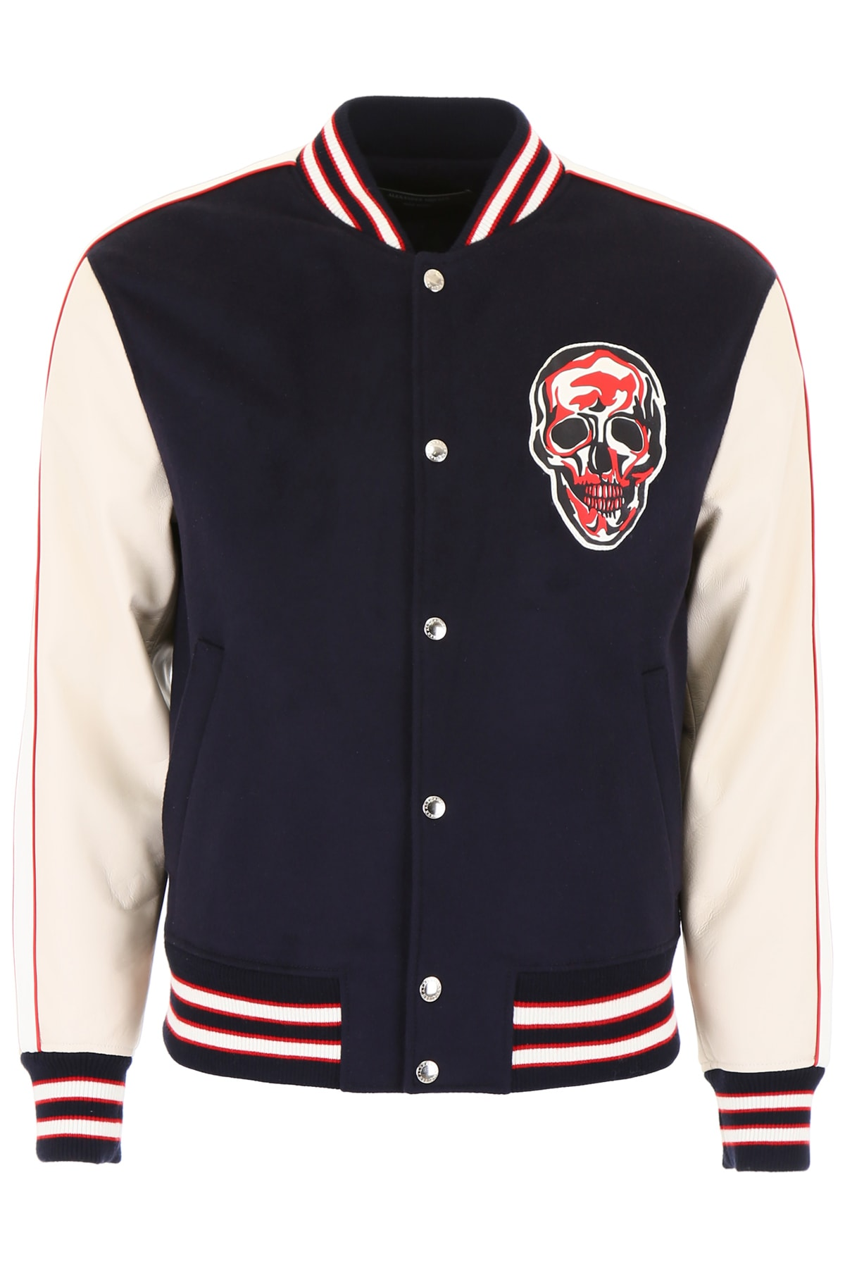 3ed8d9501 Alexander McQueen Bomber Jacket With Skull Patch