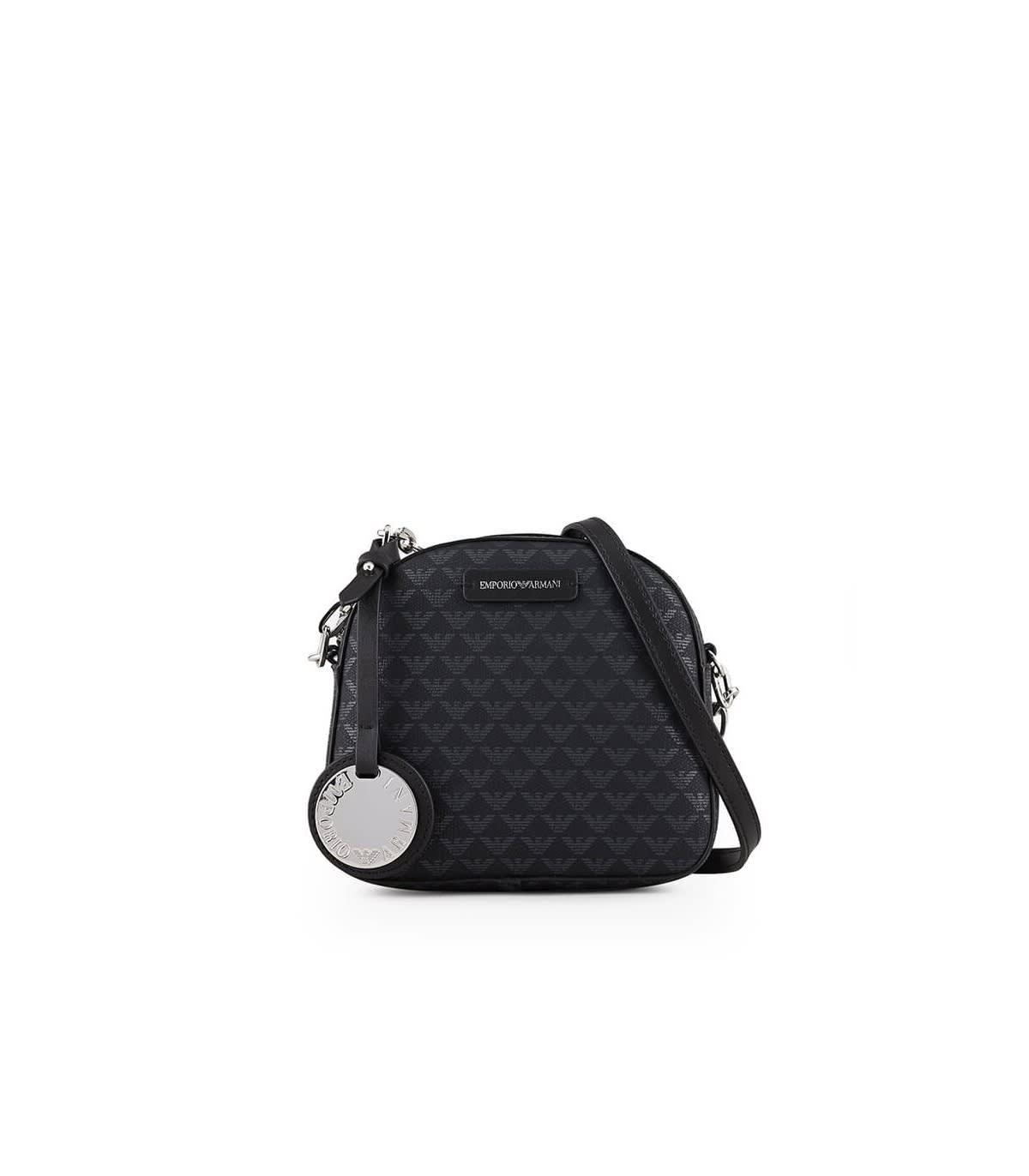 Emporio Armani Monogram Black Small Crossbody Bag