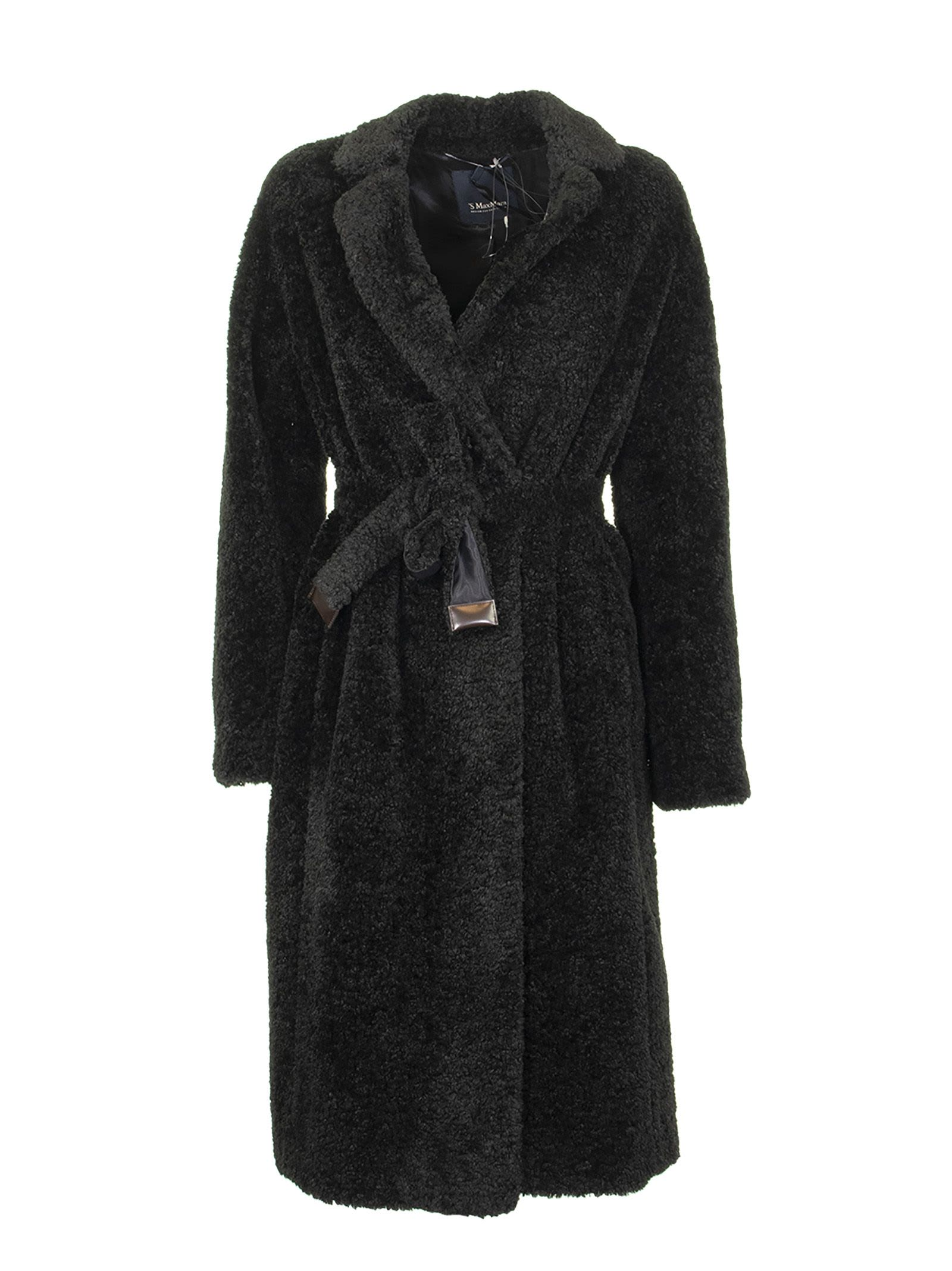 Max Mara Teddy Black Coat