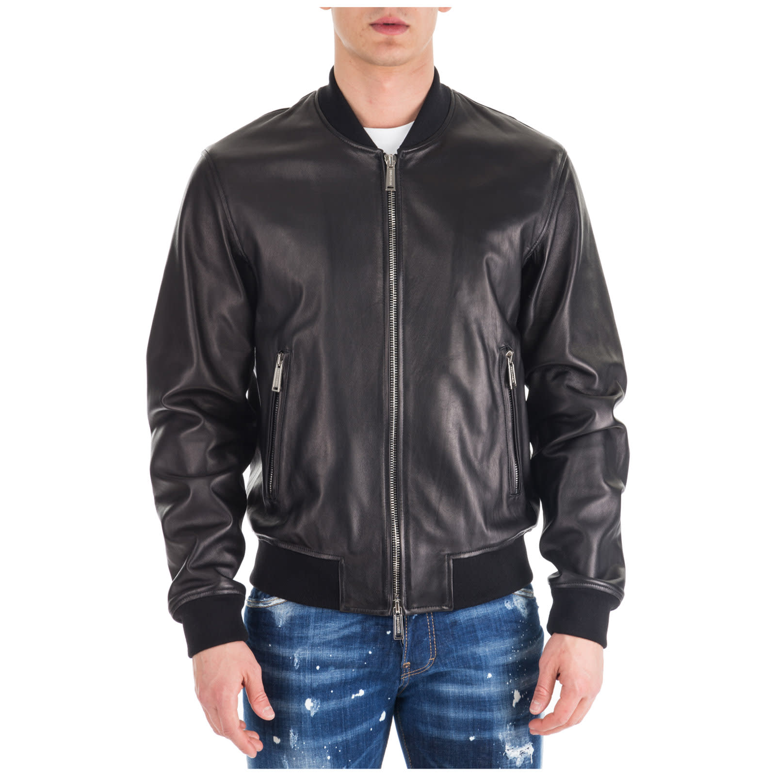 Dsquared2 Aviator Bomber Leather Jackets