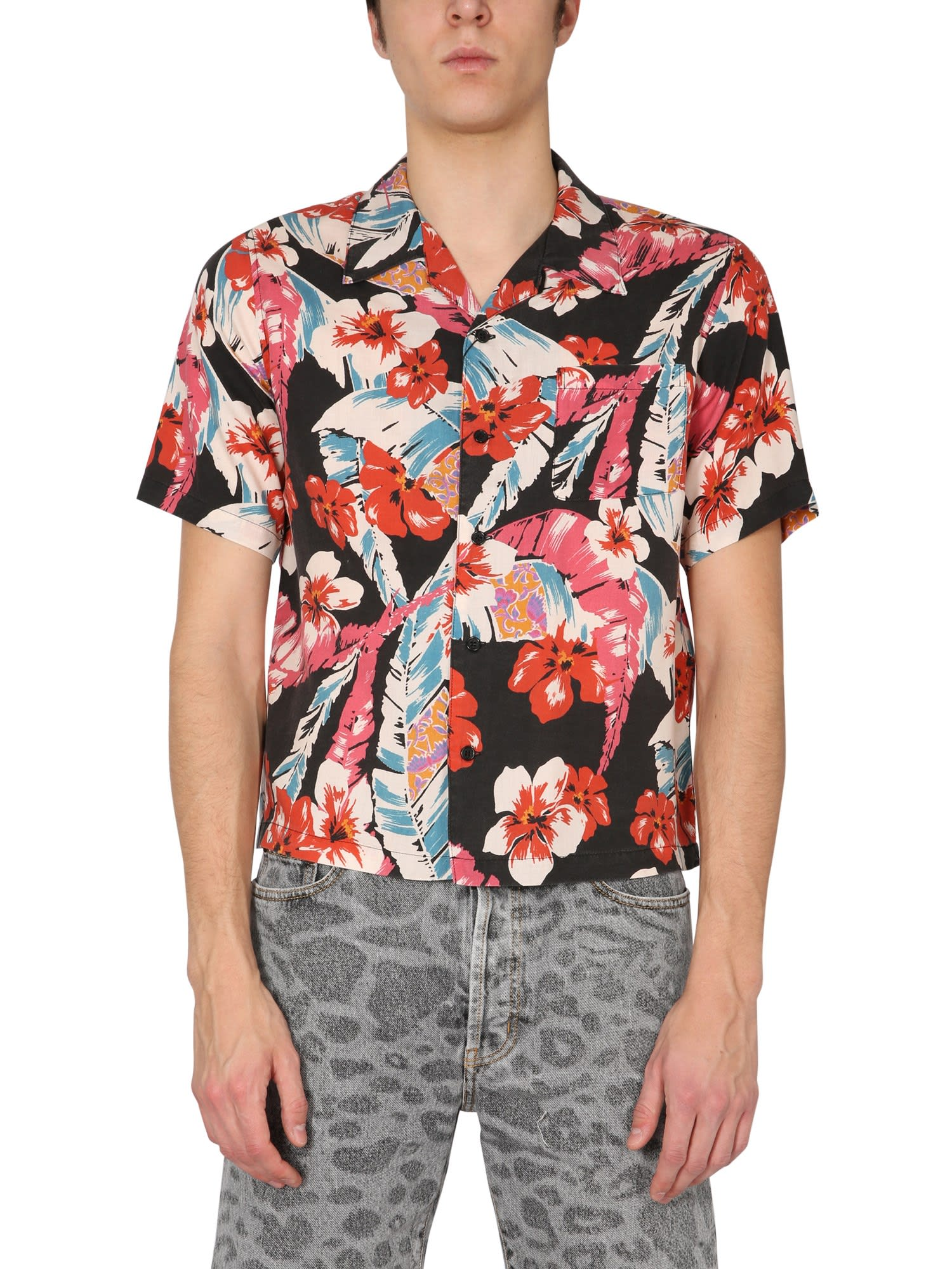 Saint Laurent Shirts HAWAIAN SHIRT