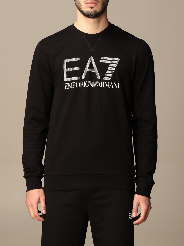 Ea7 Cottons EA7 SWEATSHIRT EA7 STRETCH COTTON SWEATSHIRT WITH BIG LOGO