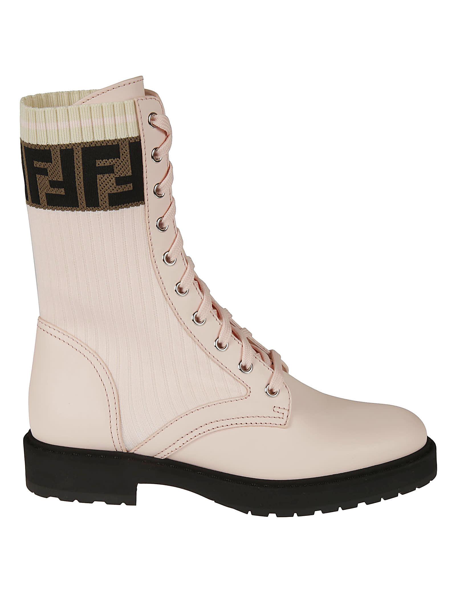 Buy Fendi Biker Logo Boots online, shop Fendi shoes with free shipping