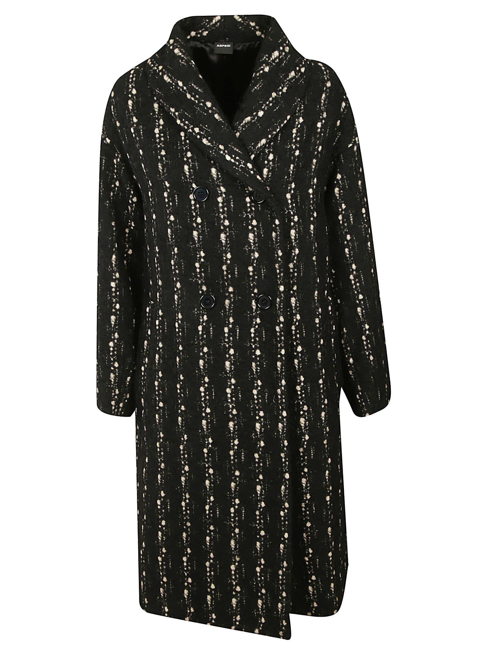 Aspesi Double-breasted Printed Coat