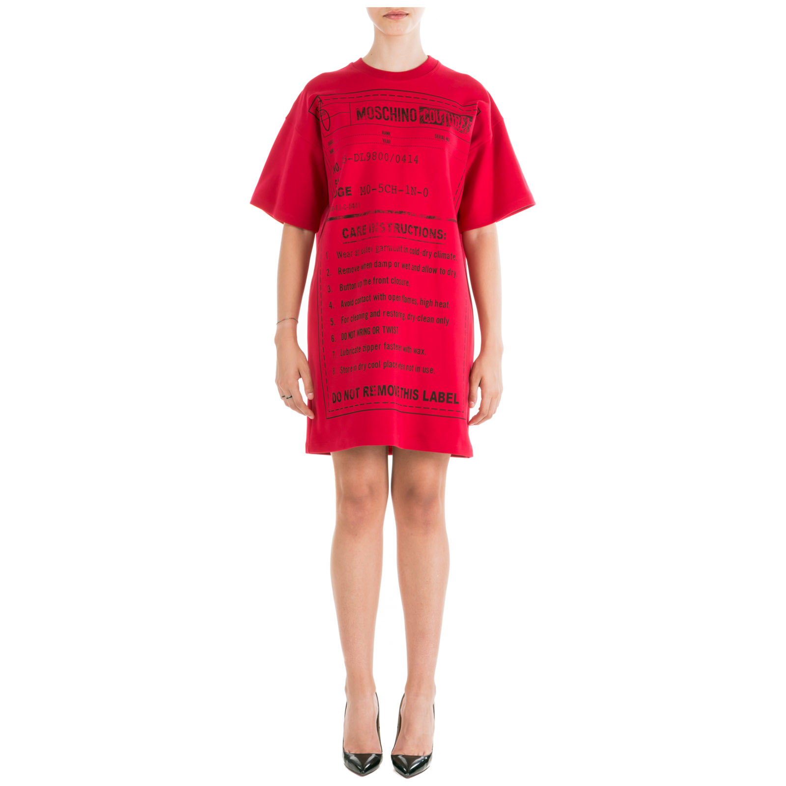 Moschino Short Mini Dress Short Sleeve
