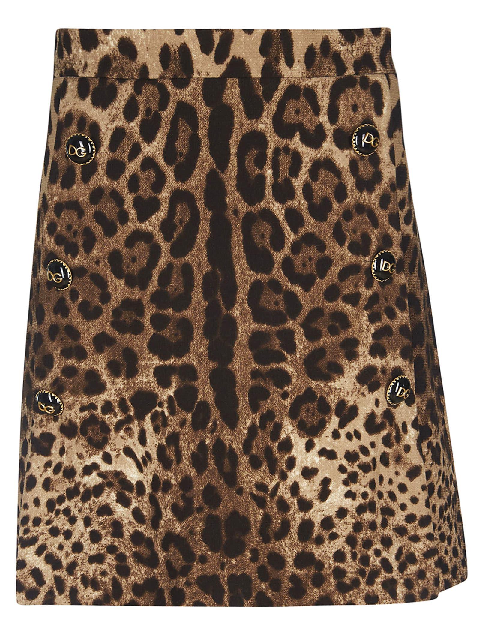 Dolce & Gabbana Leopard Skirt