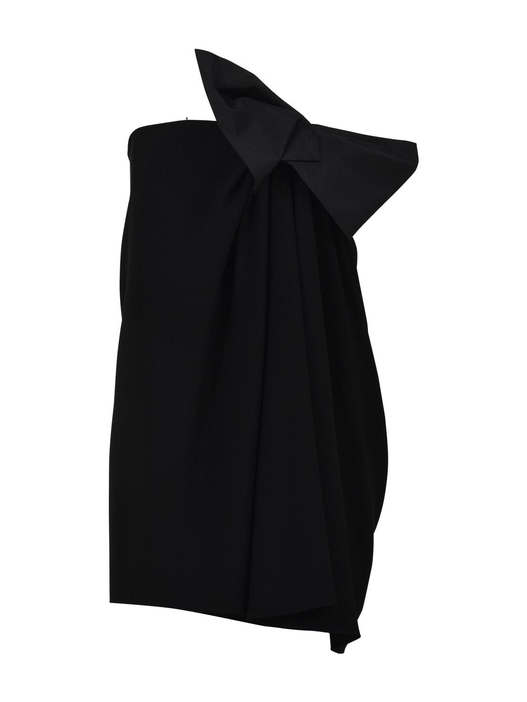 Saint Laurent Mini Black Dress With Bow