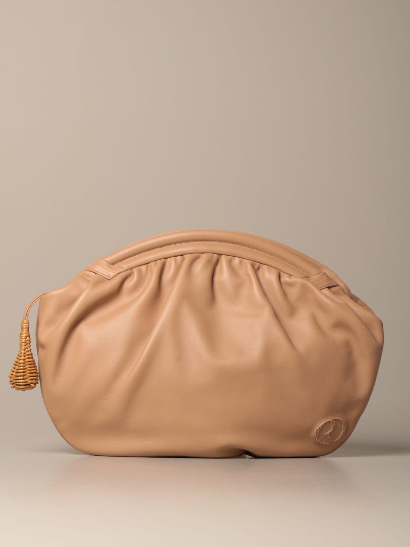 Rodo ROUND ENVELOPE CLUTCH BAG IN GENUINE LAMBSKIN