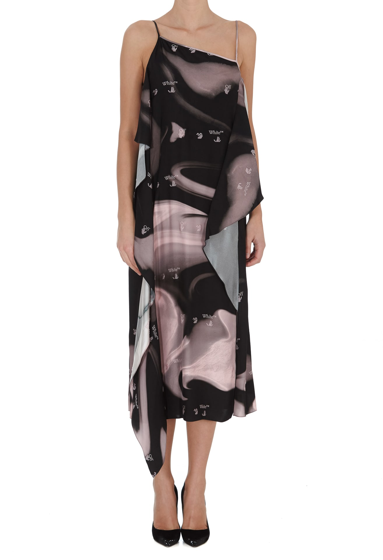 Off-White OFF-WHITE LIQUID MELT WAVES DRESS