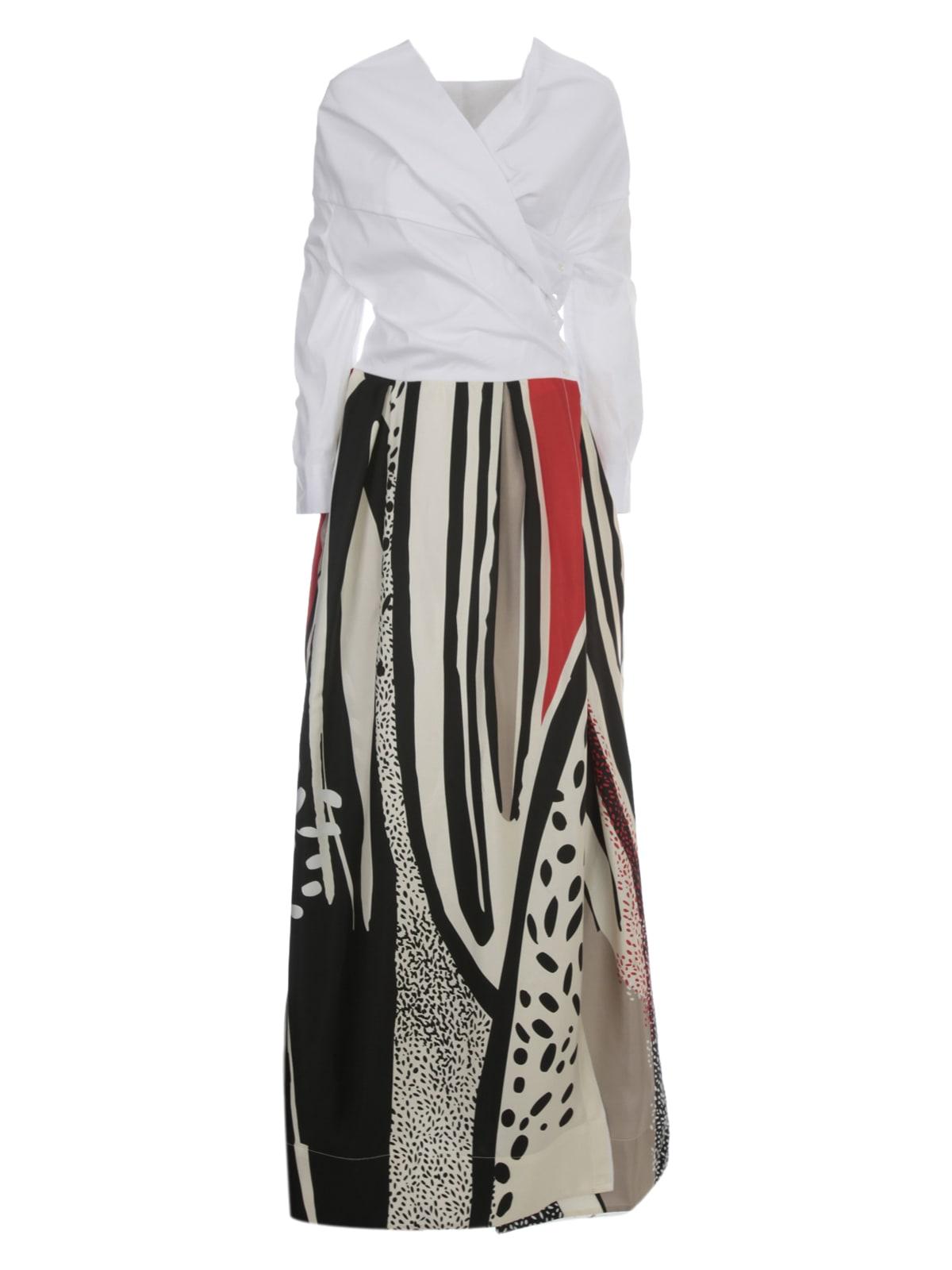 Buy Sara Roka Printed Silk Maxi Dress online, shop Sara Roka with free shipping
