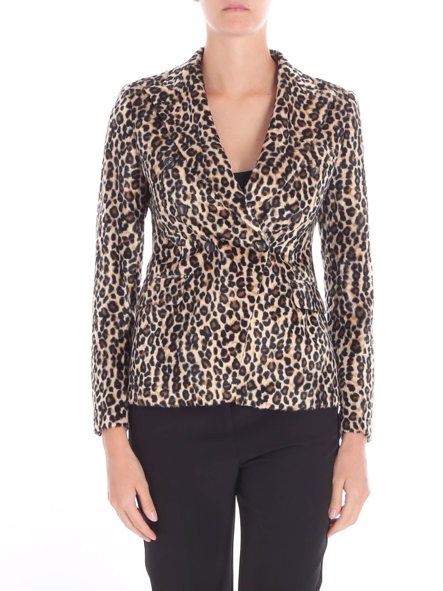 Tagliatore – Animal Printed Eco-fur Jacket