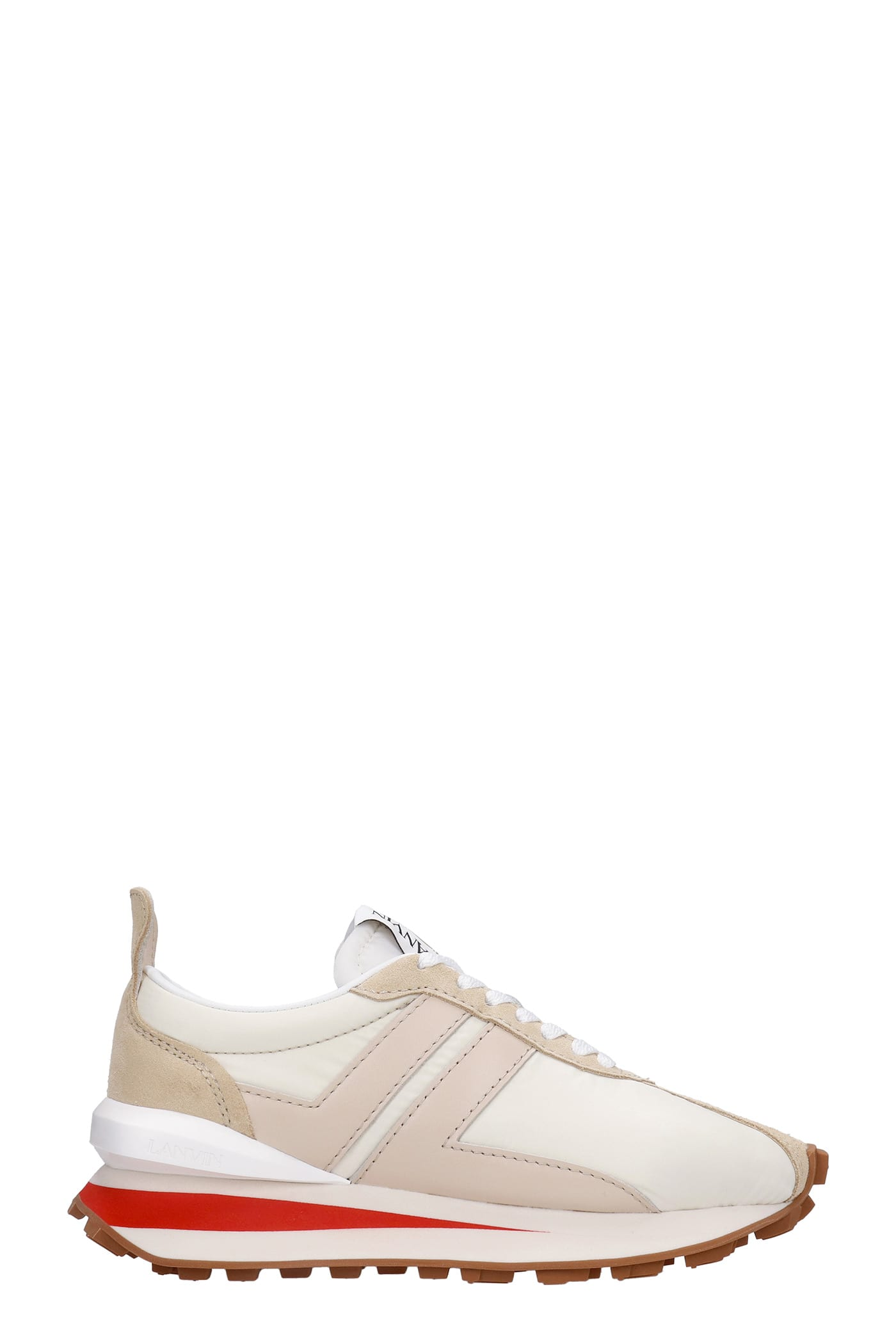 Buy Lanvin Bumper Sneakers In White Nylon online, shop Lanvin shoes with free shipping