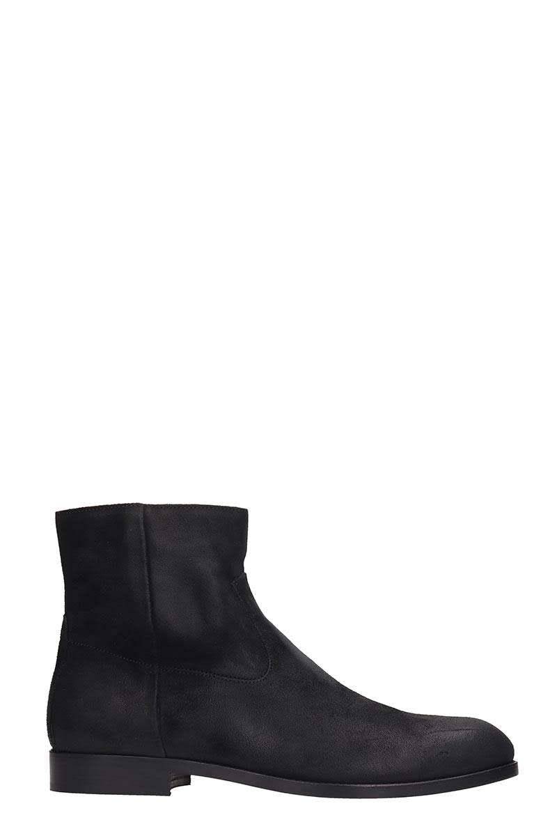 Buttero High Heels Ankle Boots In Black Suede