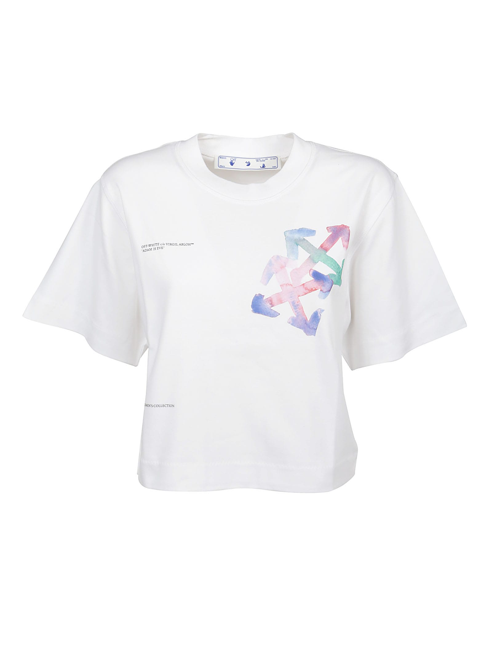 Off-White T-shirt Watercolor Arrows Cropped