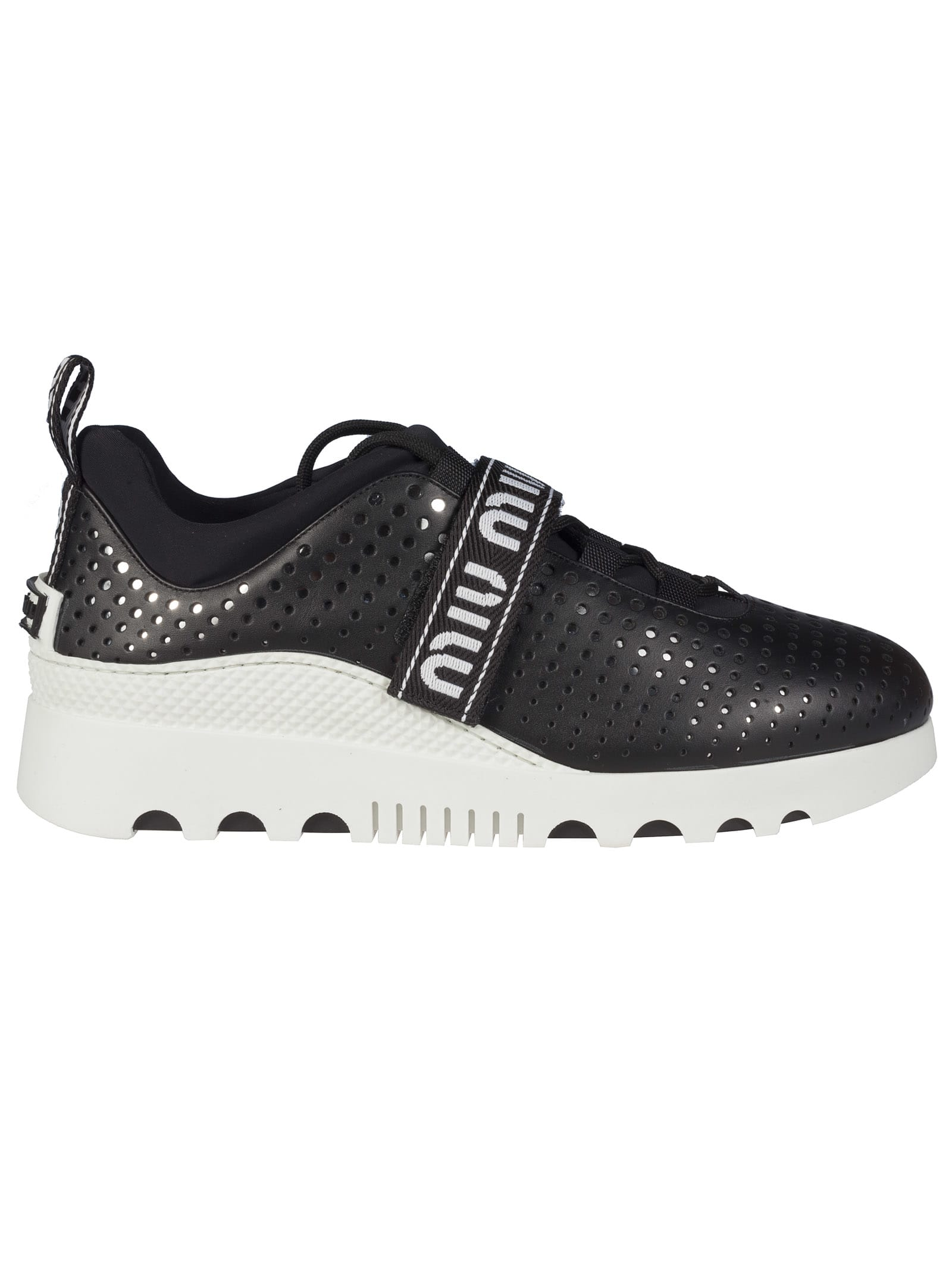official photos 2bc2f af842 Miu Miu Perforated Sneakers