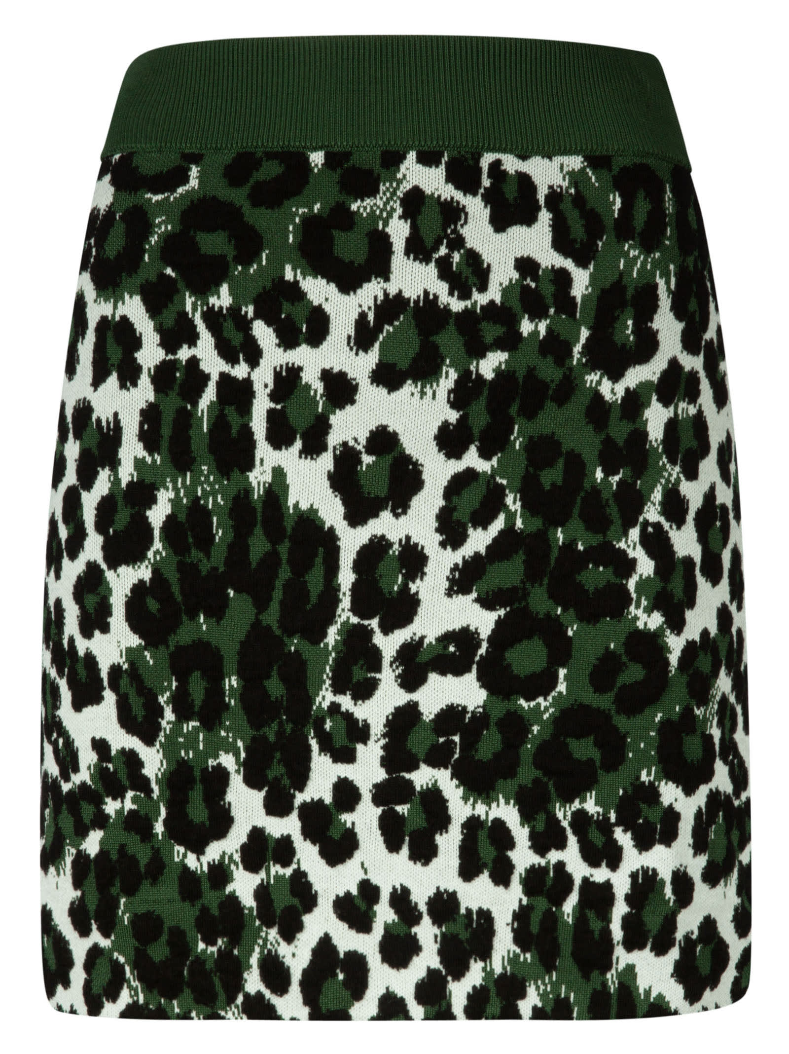 Kenzo Leopard Jacquard Skirt