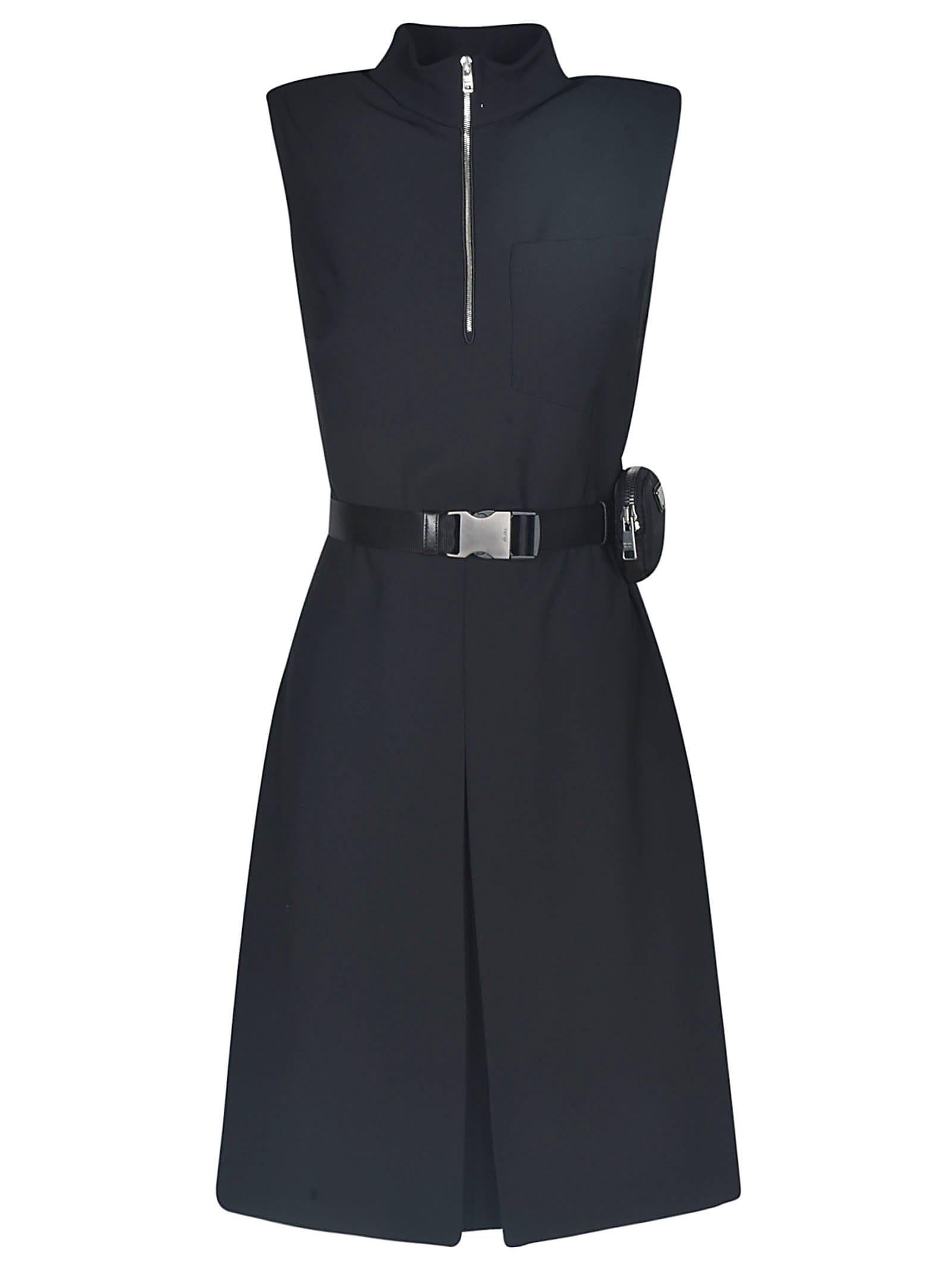 Buy Prada Drap Tec Dress online, shop Prada with free shipping