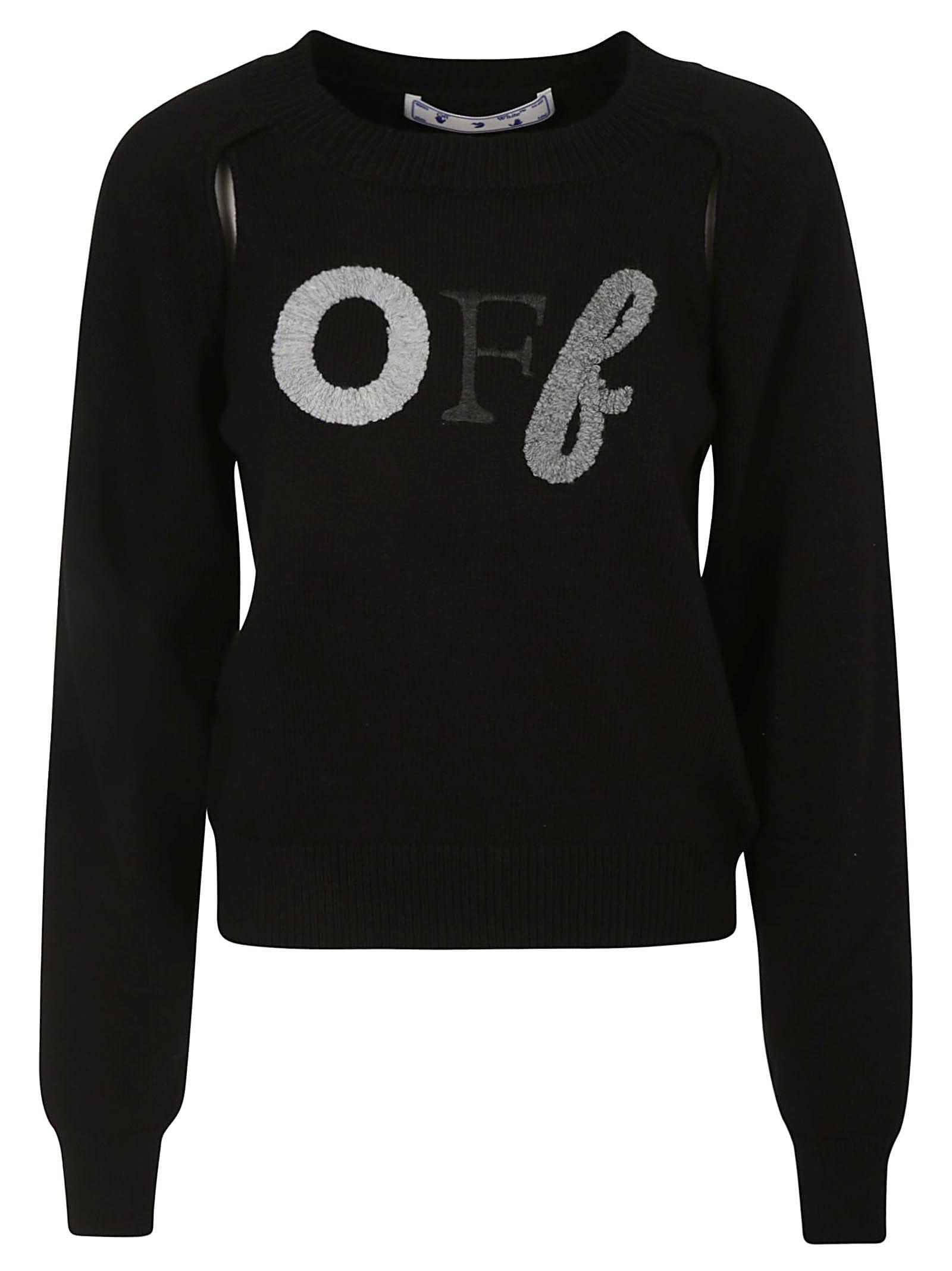 Off-White Logo Embroidery Crewneck Sweatshirt