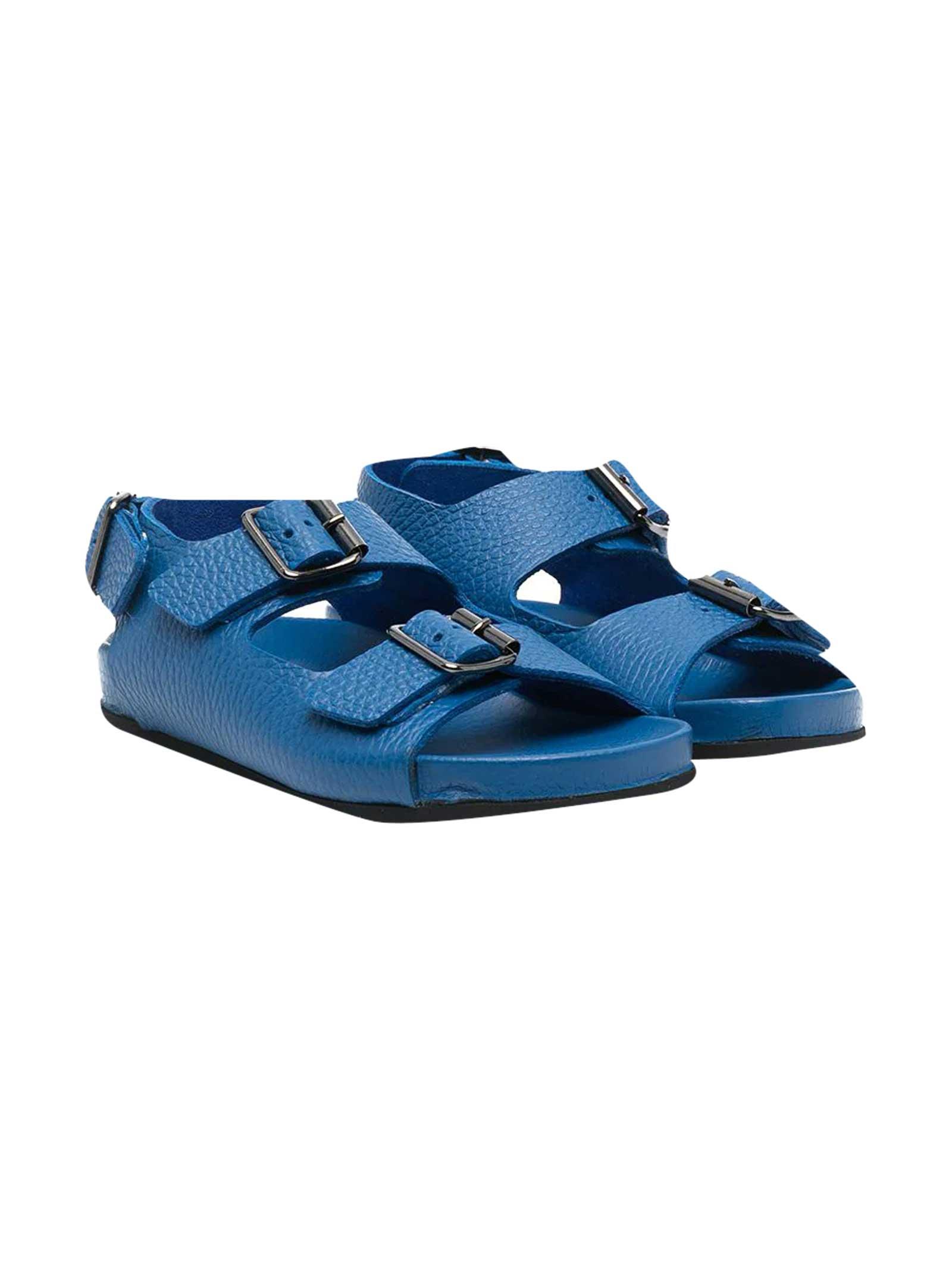 Blue Buckle Sandals