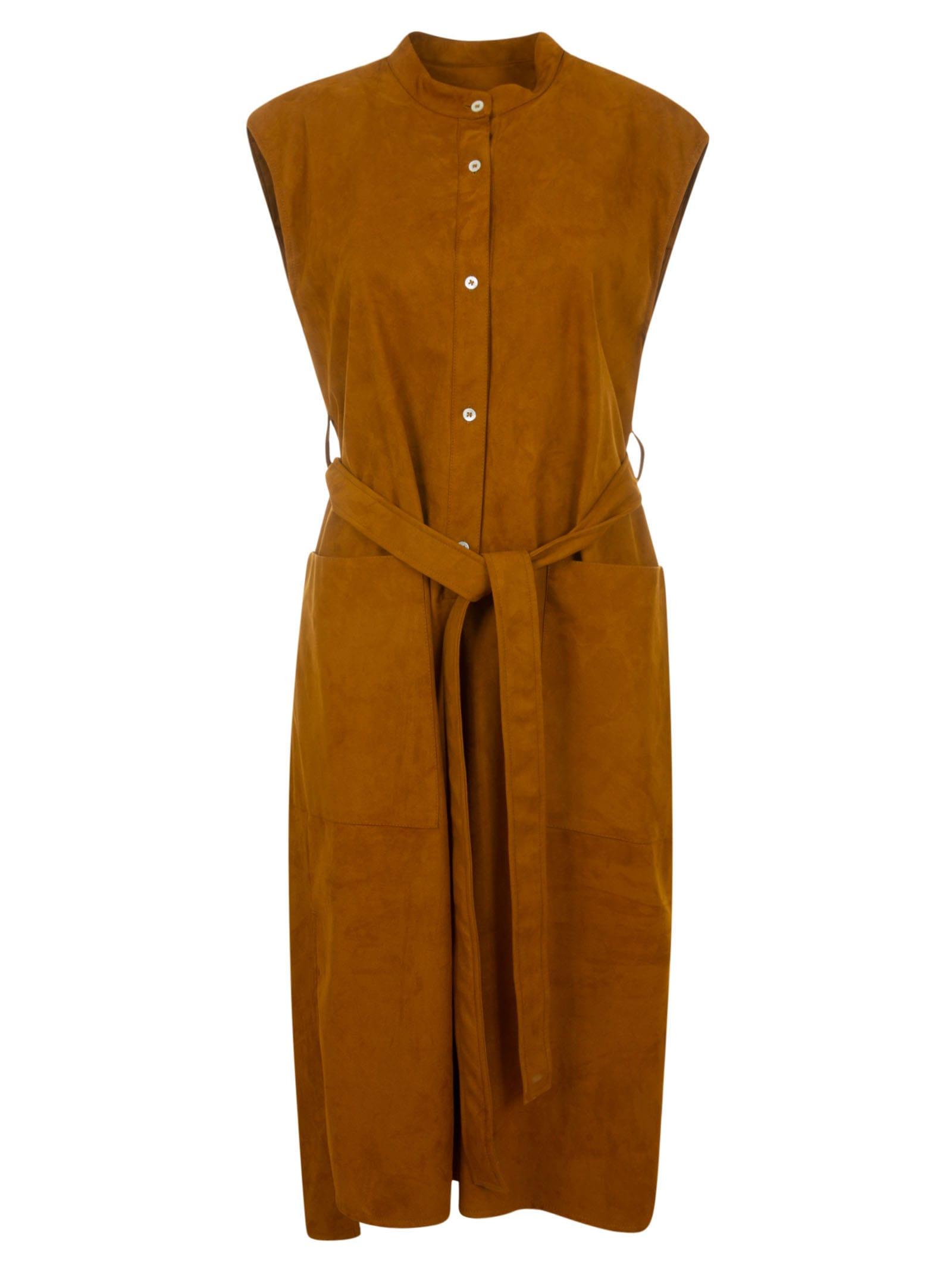 Buy Mackintosh Sleeveless Belted Dress online, shop Mackintosh with free shipping