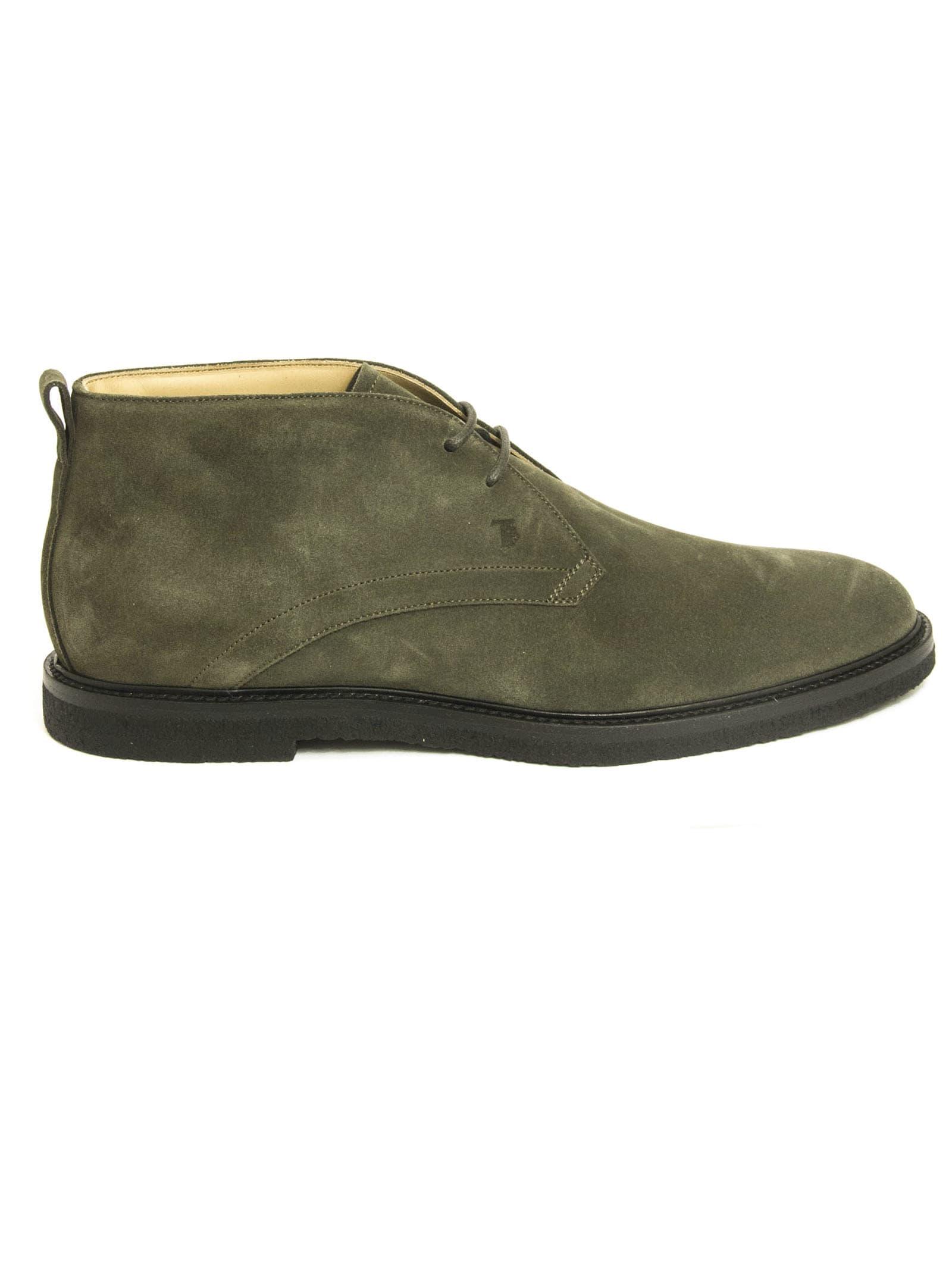 Tods Desert Boots In Grey Suede