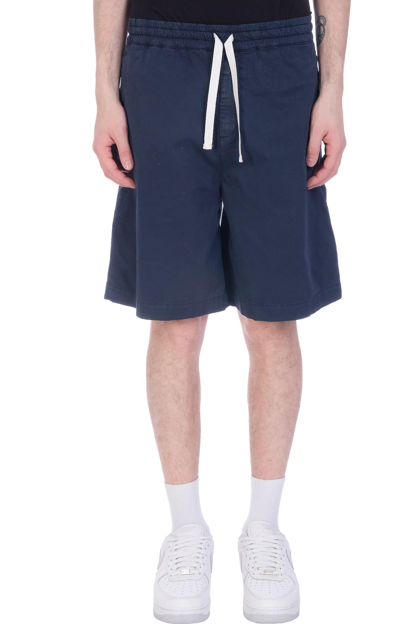 Baviera Shorts In Blue Cotton
