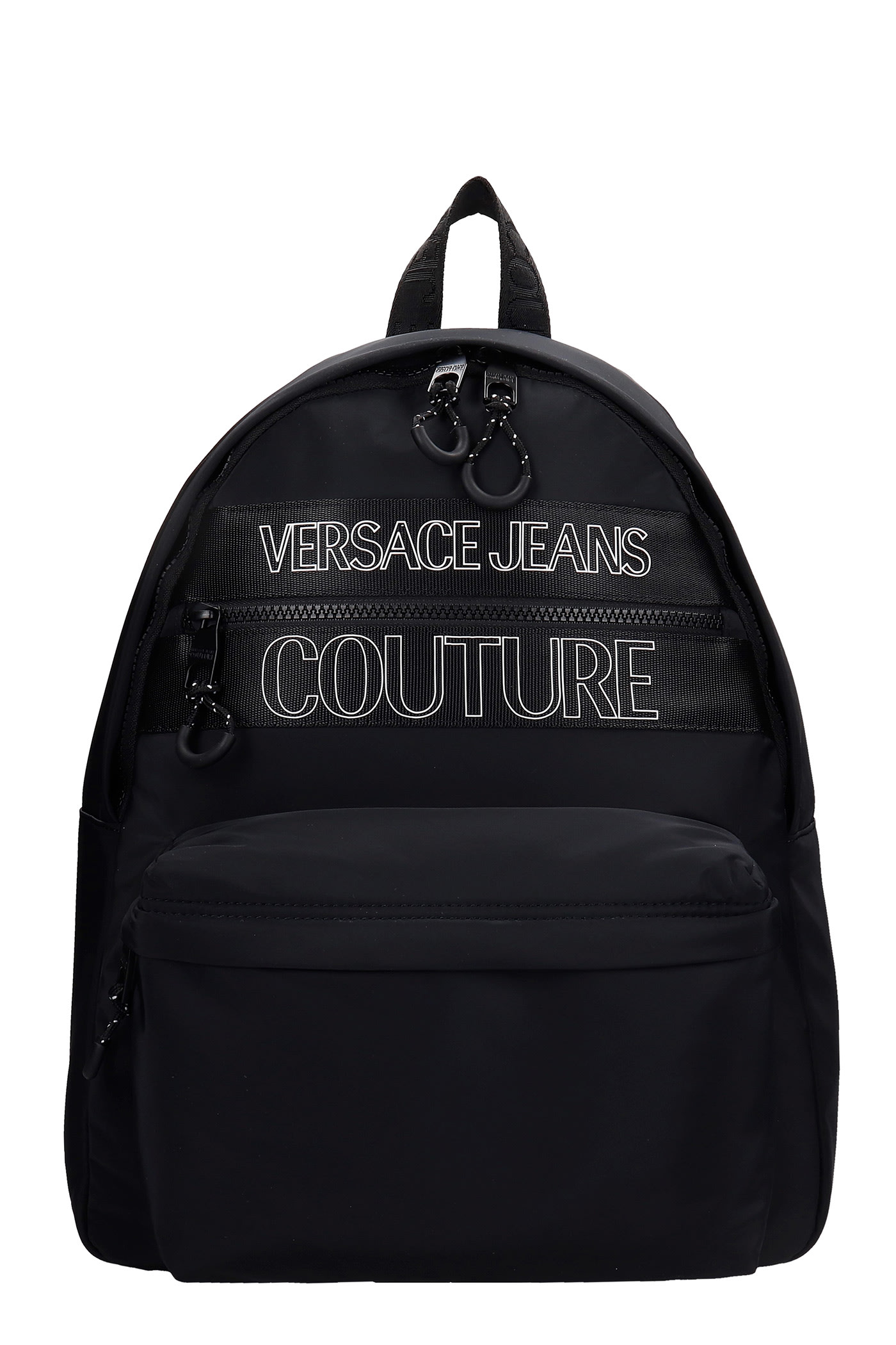 Versace Jeans Couture Backpack In Black Nylon
