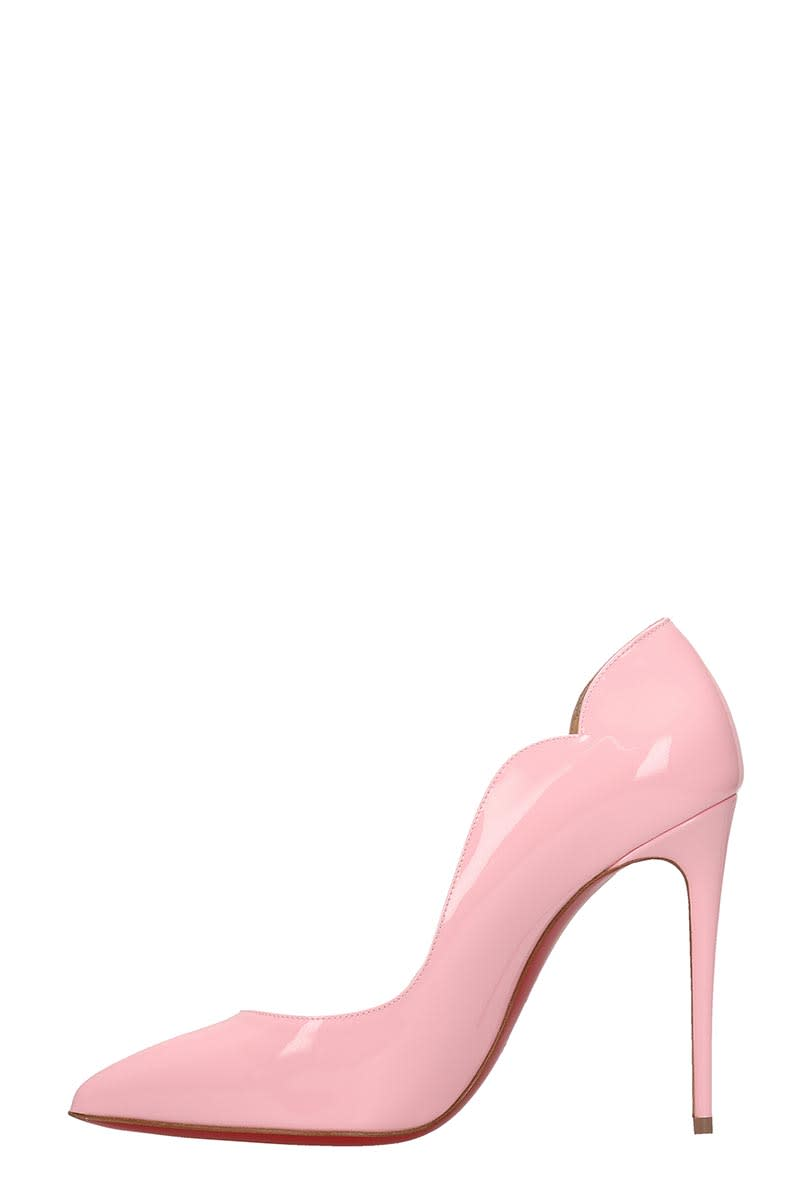 Christian Louboutin Pink Patent Leather Hot Chick Pumps