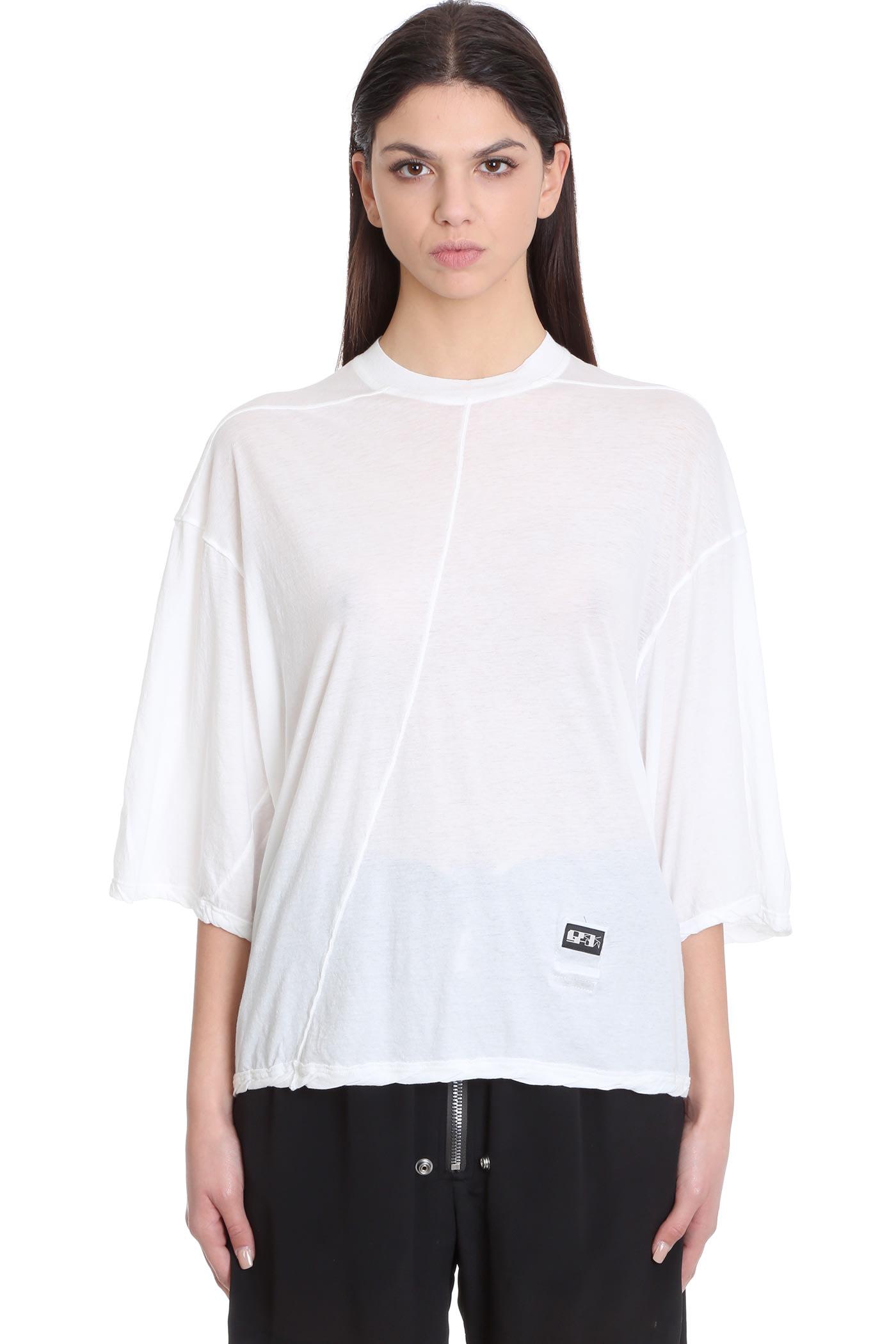 Jumbo Top Topwear In White Cotton
