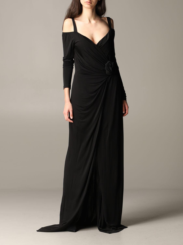 Buy Blumarine Dress Blumarine Maxi Dress In Jersey With Flower online, shop Blumarine with free shipping