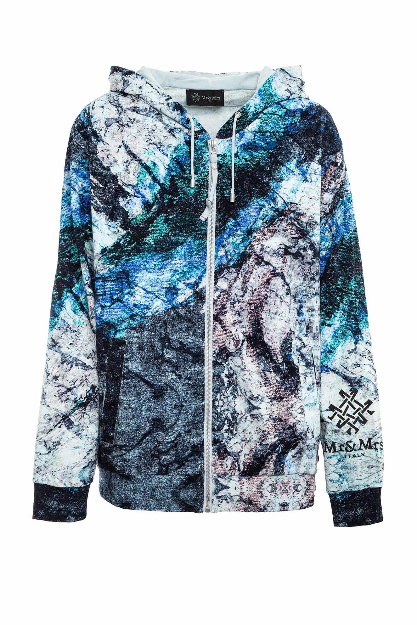 Marble-printed Sweatshirt For Man