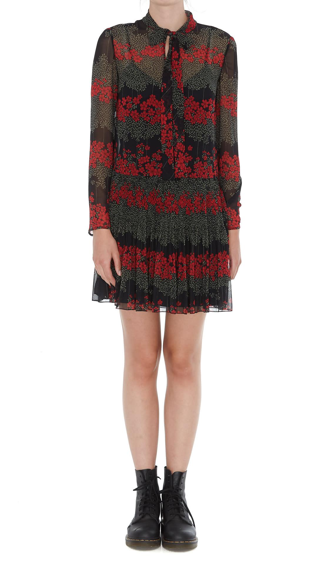 Red Valentino Dreaming Peony Print Mini Dress