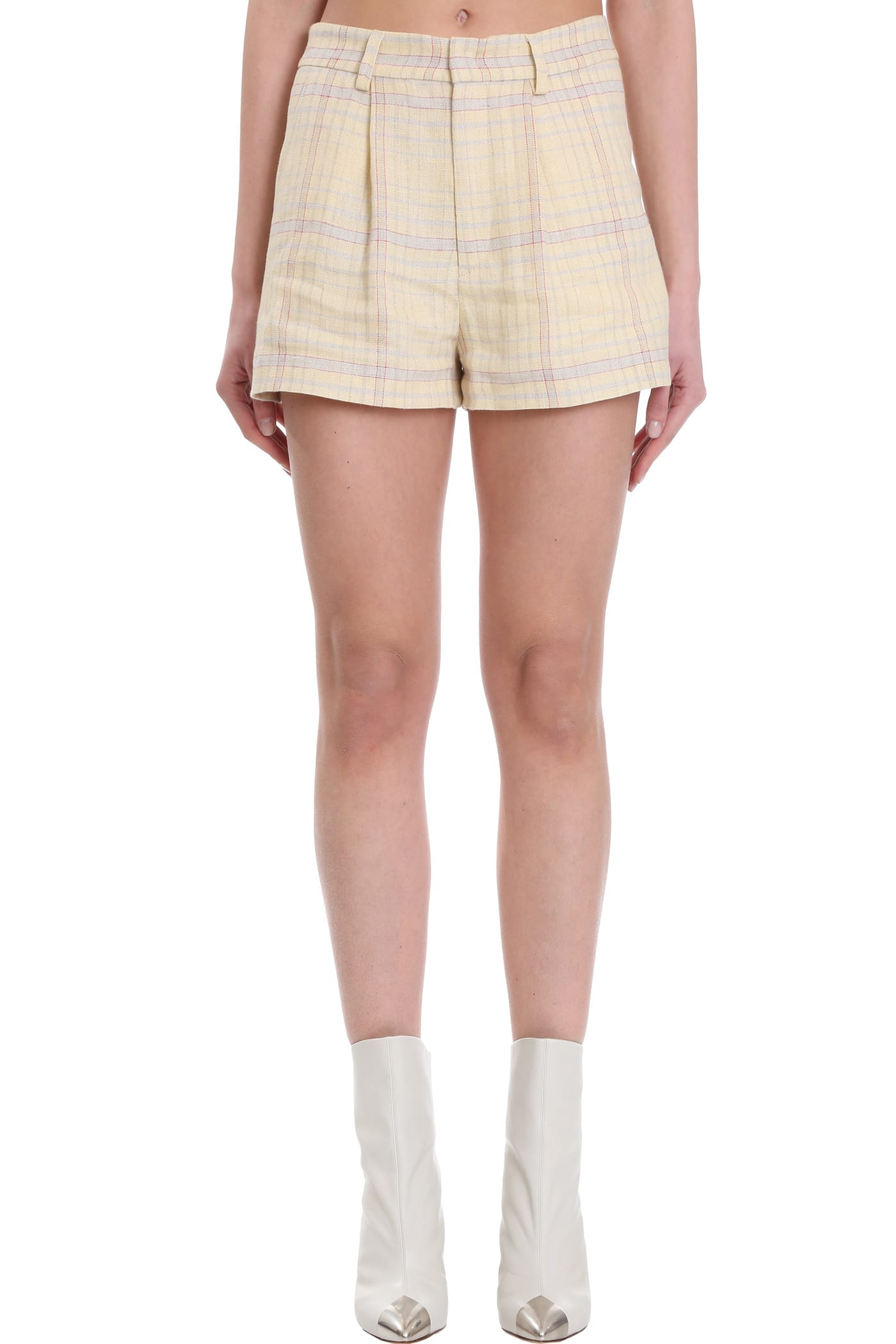 Isabel Marant Étoile SHORTS IN YELLOW COTTON