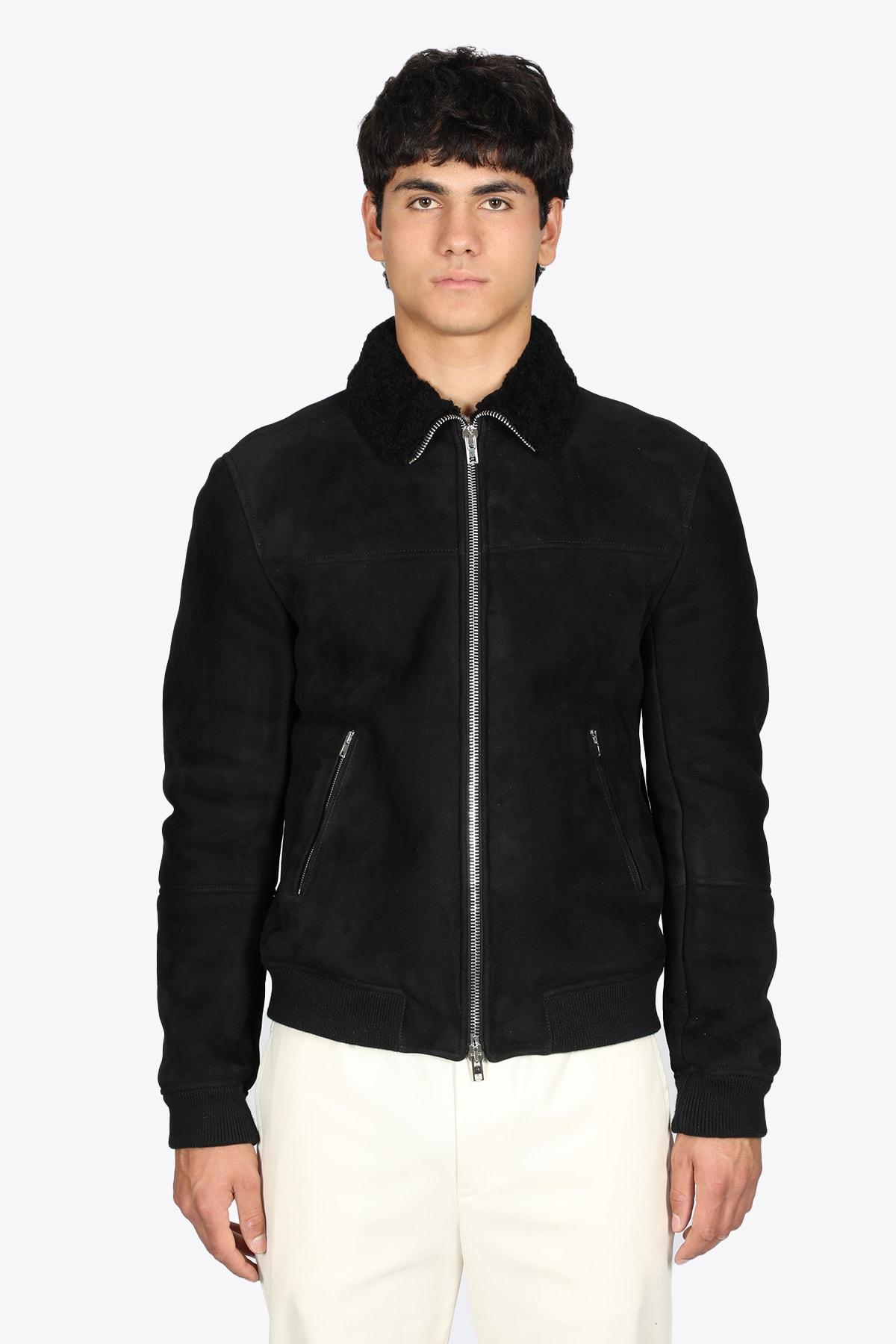 Black Sheepskin Bomber Jacket